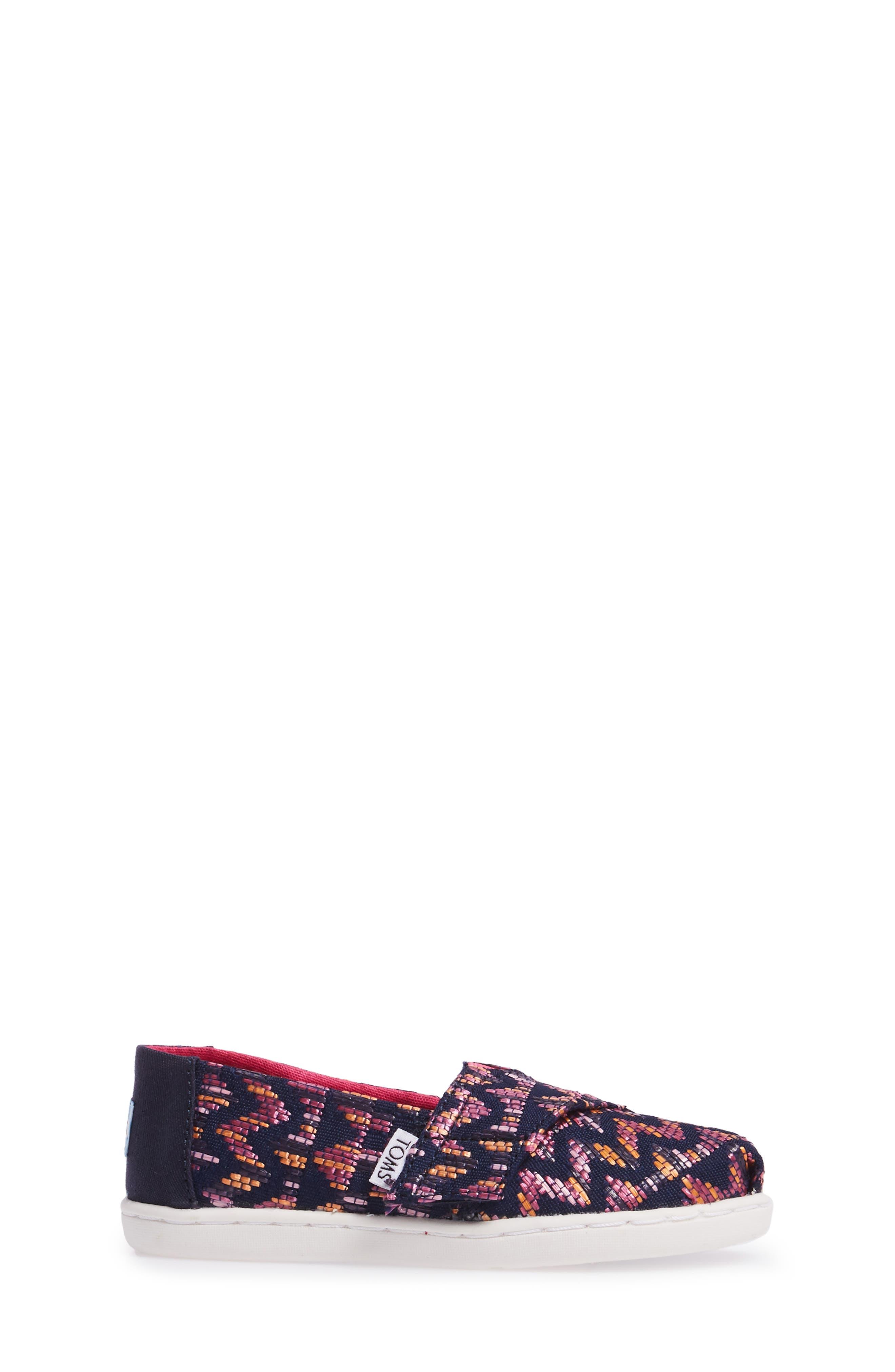 Alpargata Classic Print Slip-On,                             Alternate thumbnail 3, color,                             Fuchsia Canvas