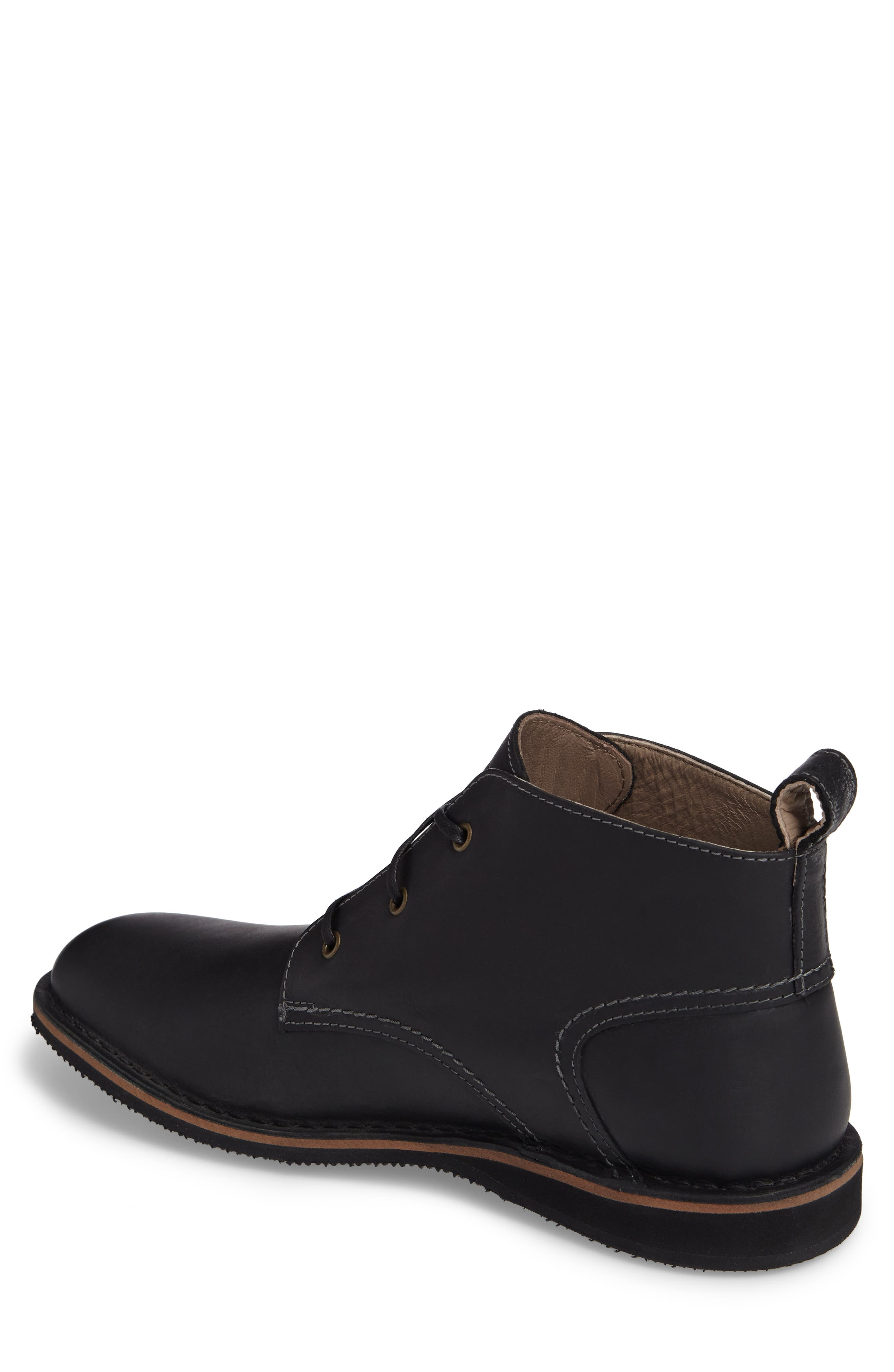 Dorchester Chukka Boot,                             Alternate thumbnail 2, color,                             Black Leather