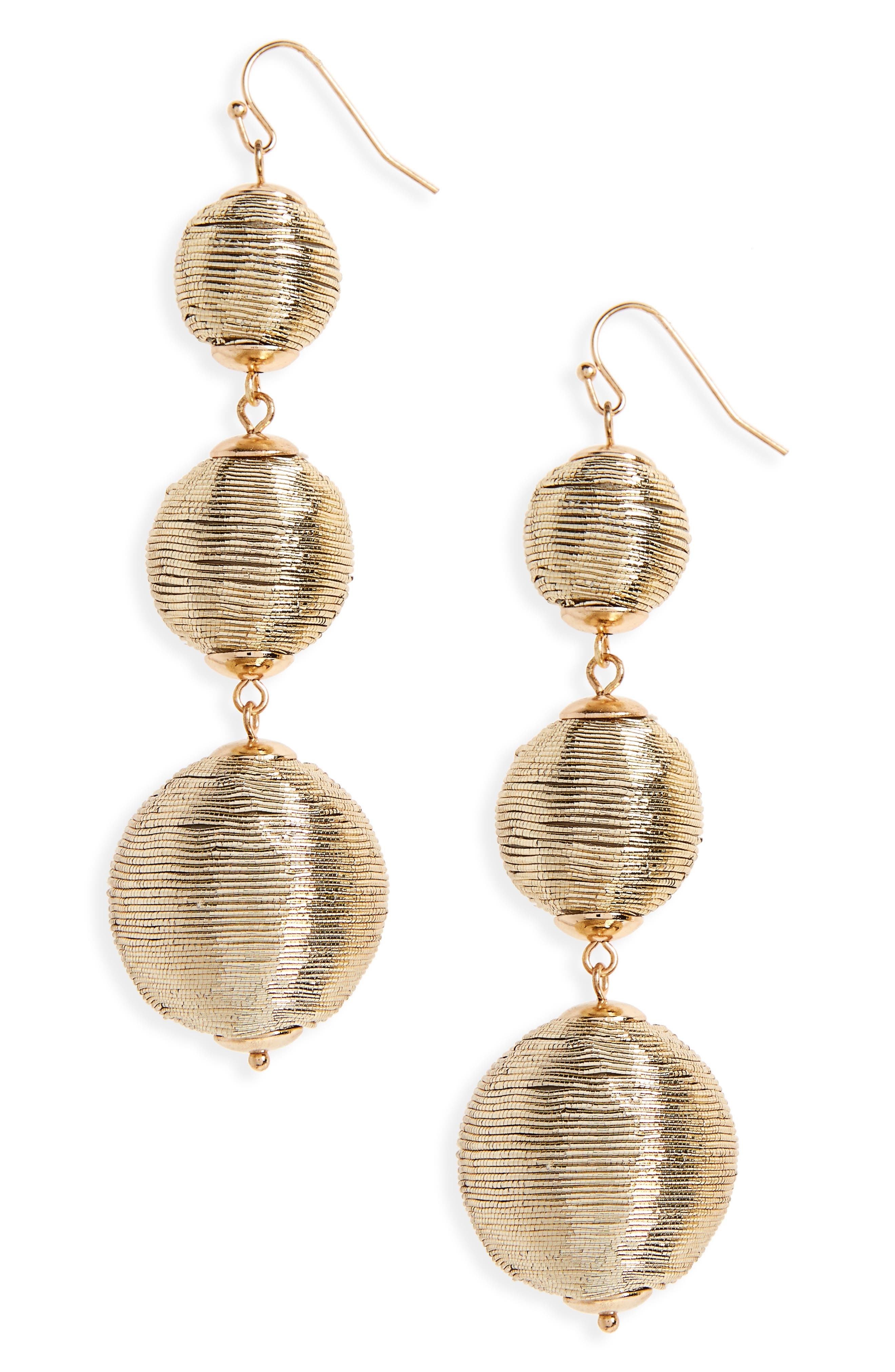 BP. Wrapped Ball Drop Earrings