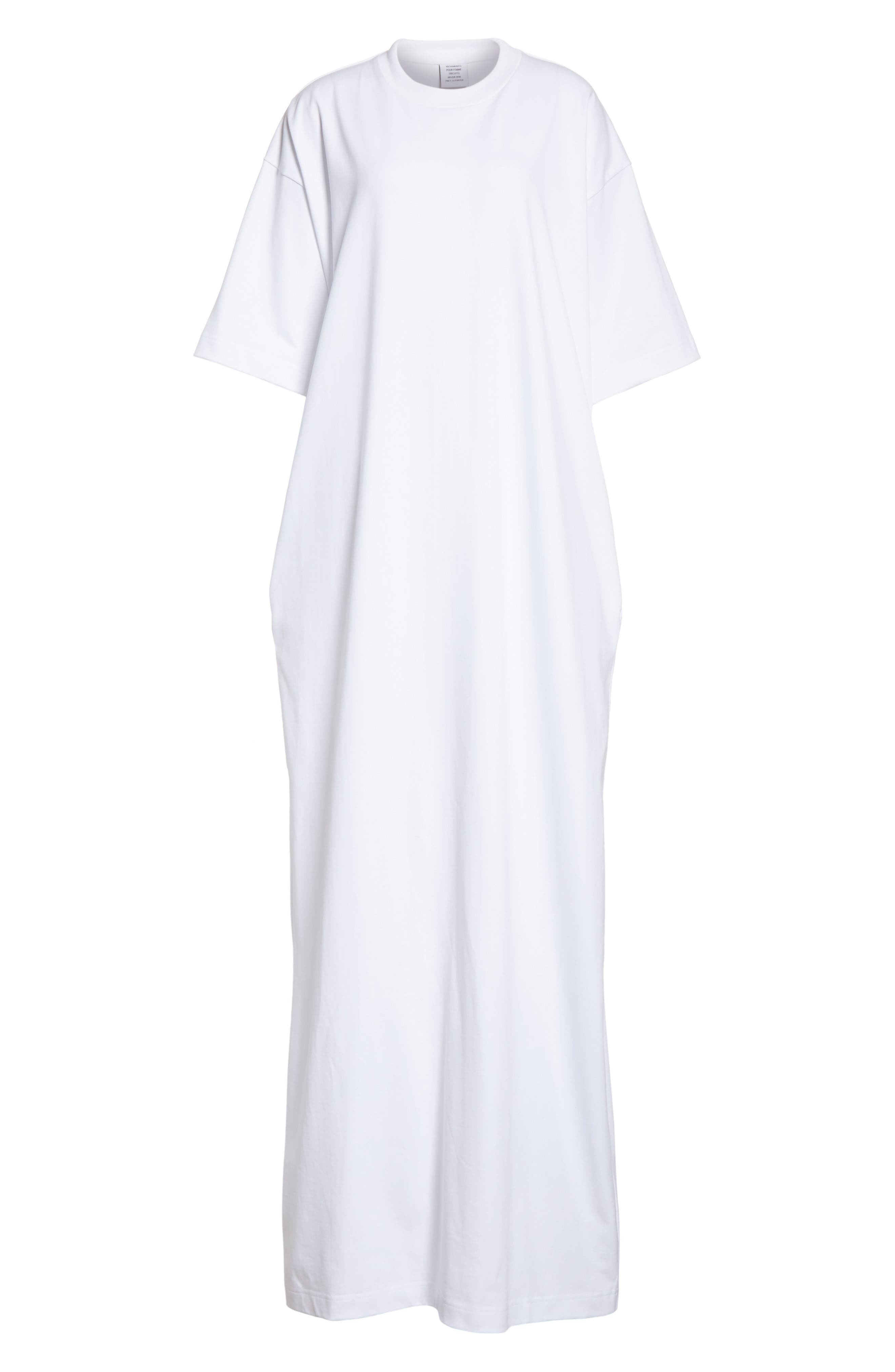 T-Shirt Dress,                             Alternate thumbnail 7, color,                             White