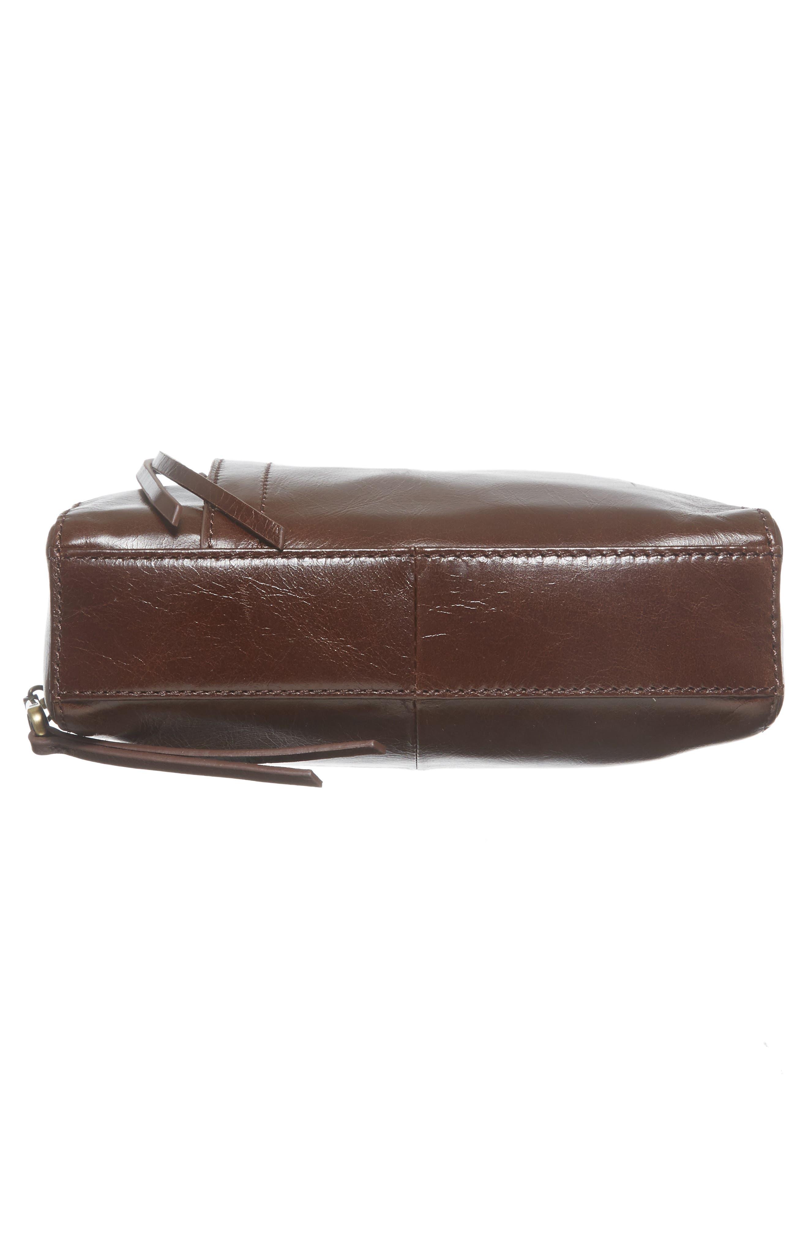 Lyric Leather Crossbody Bag,                             Alternate thumbnail 6, color,                             Espresso