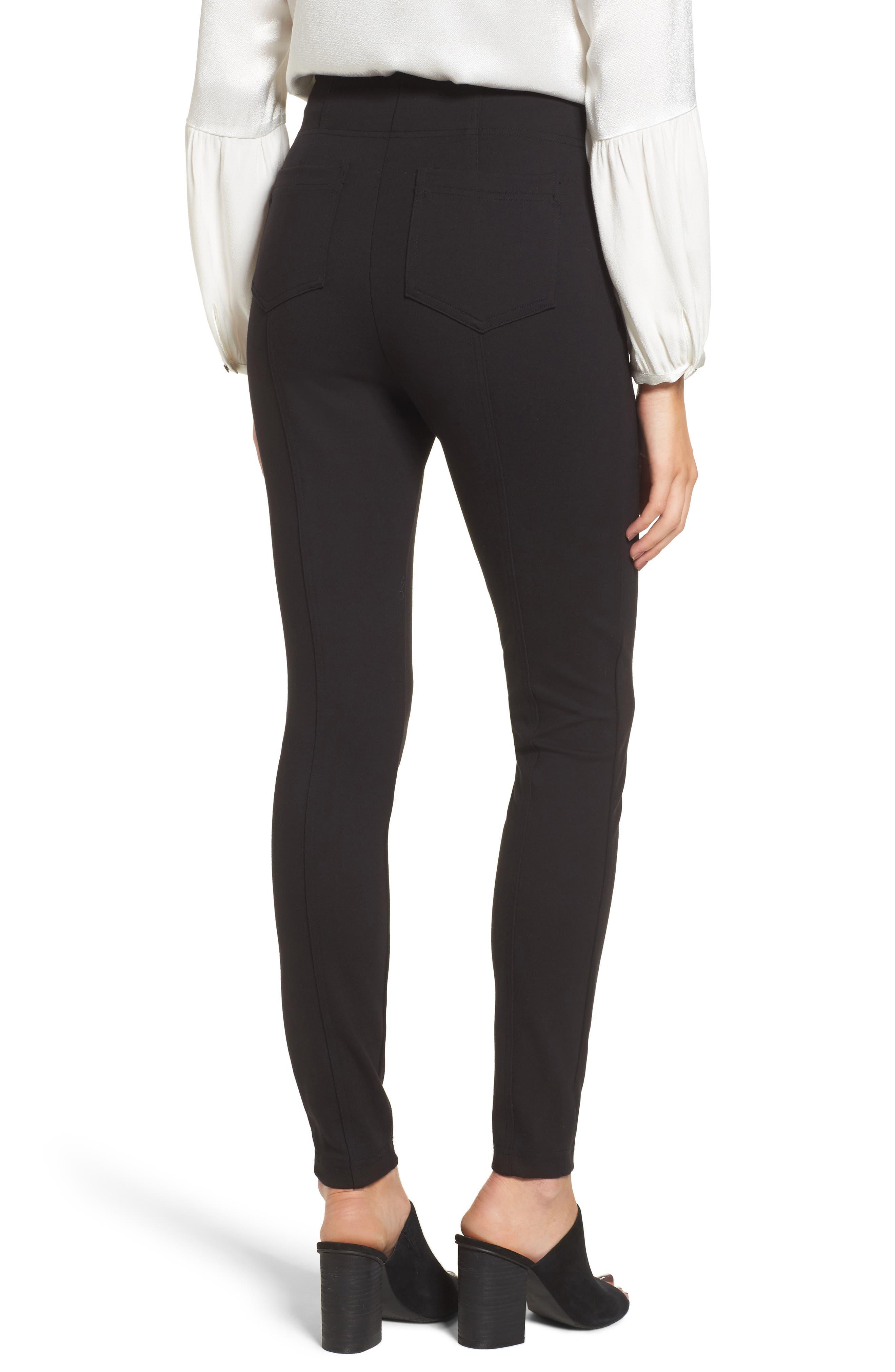 Alternate Image 2  - Ella Moss Lace-Up Skinny Pants