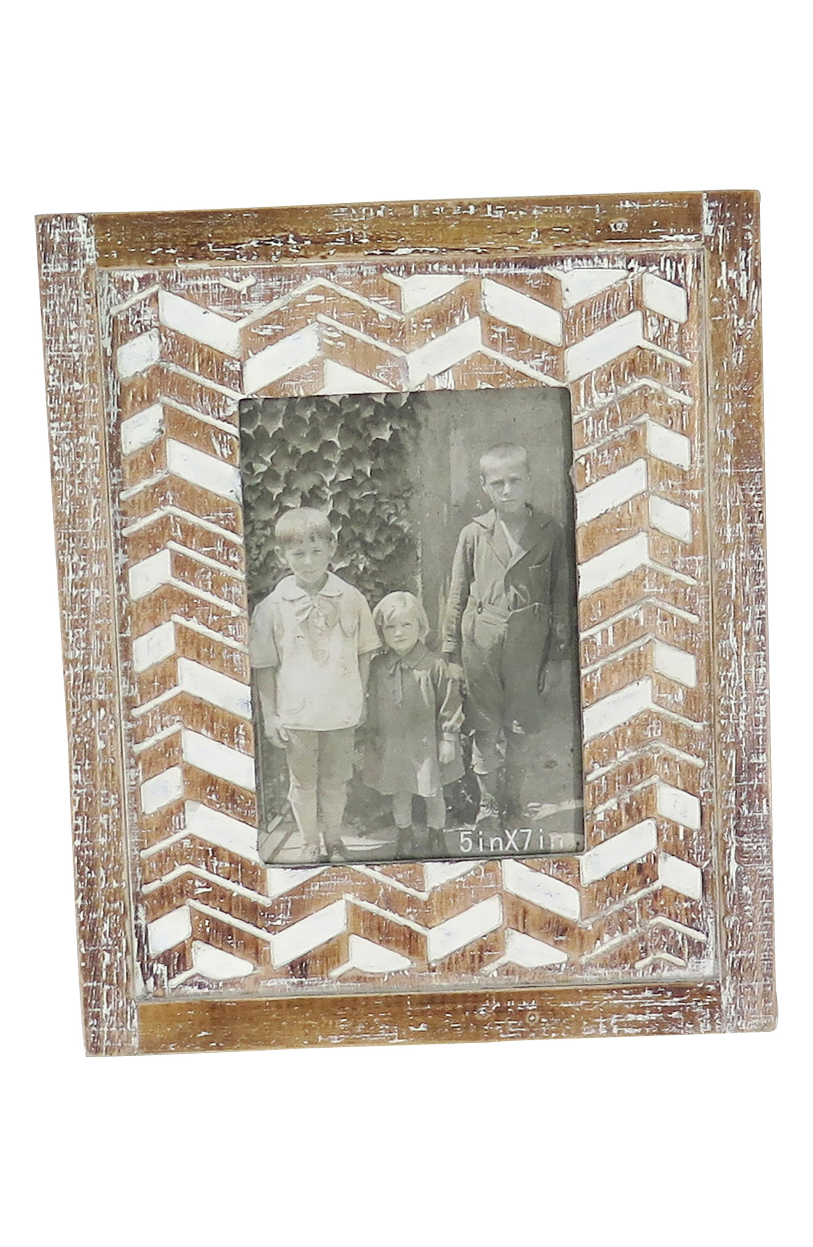 Bowden Picture Frame,                             Main thumbnail 1, color,                             Wood/ Glass
