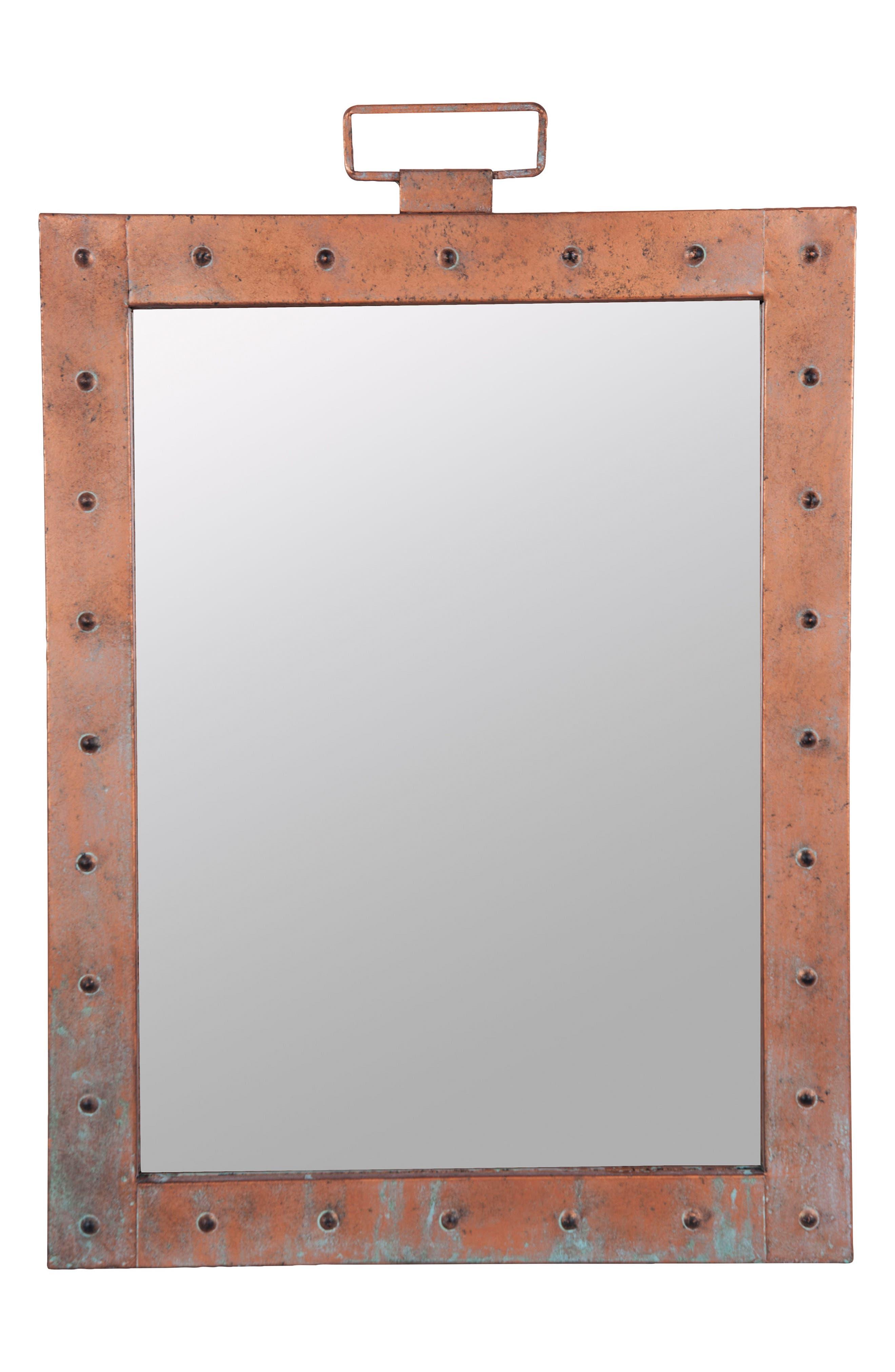 Aviator Mirror,                             Main thumbnail 1, color,                             Metal/ Glass