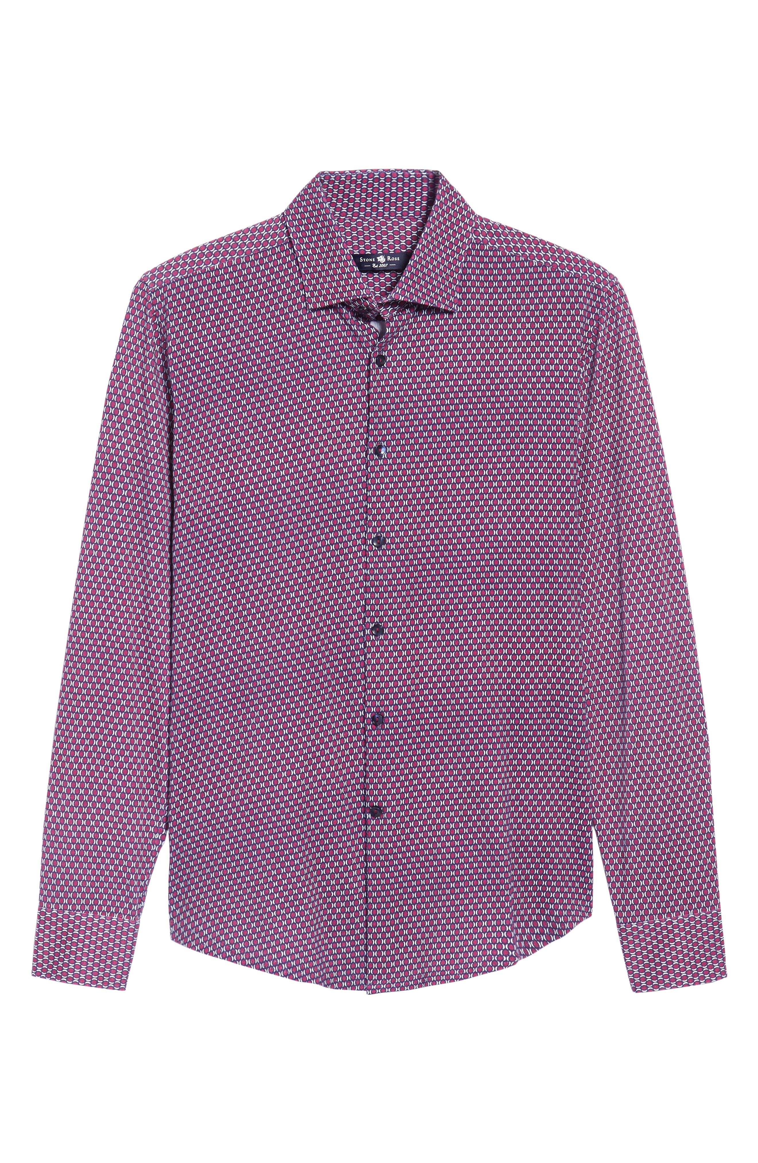 Alternate Image 6  - Stone Rose Slim Fit Geo Knit Sport Shirt