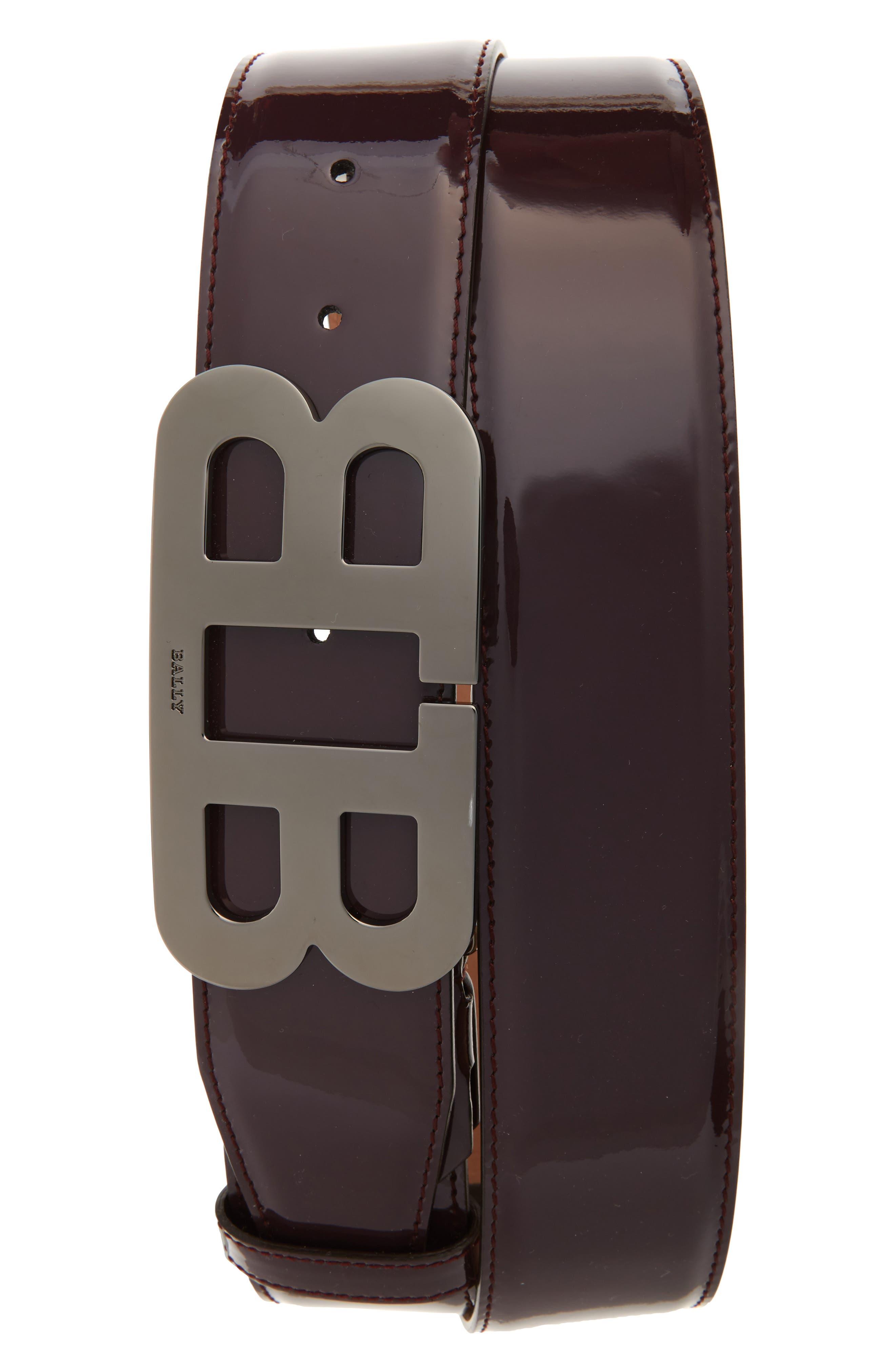 Main Image - Bally Mirror Buckle Leather Belt