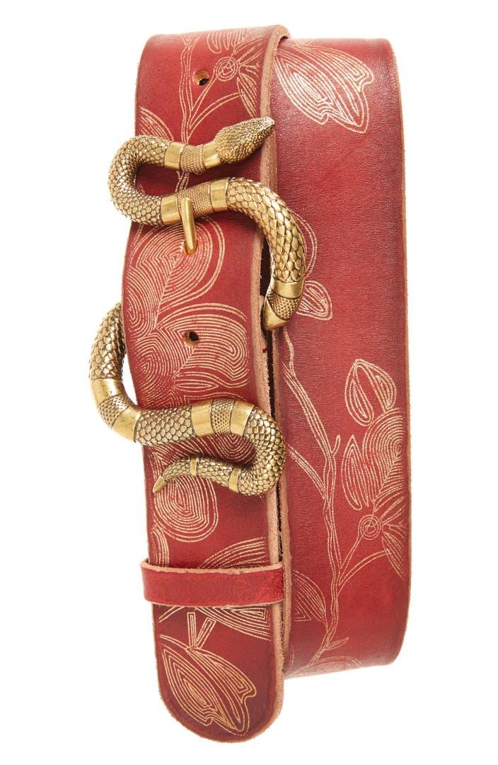 Gucci Snake Buckle Leather Belt Nordstrom