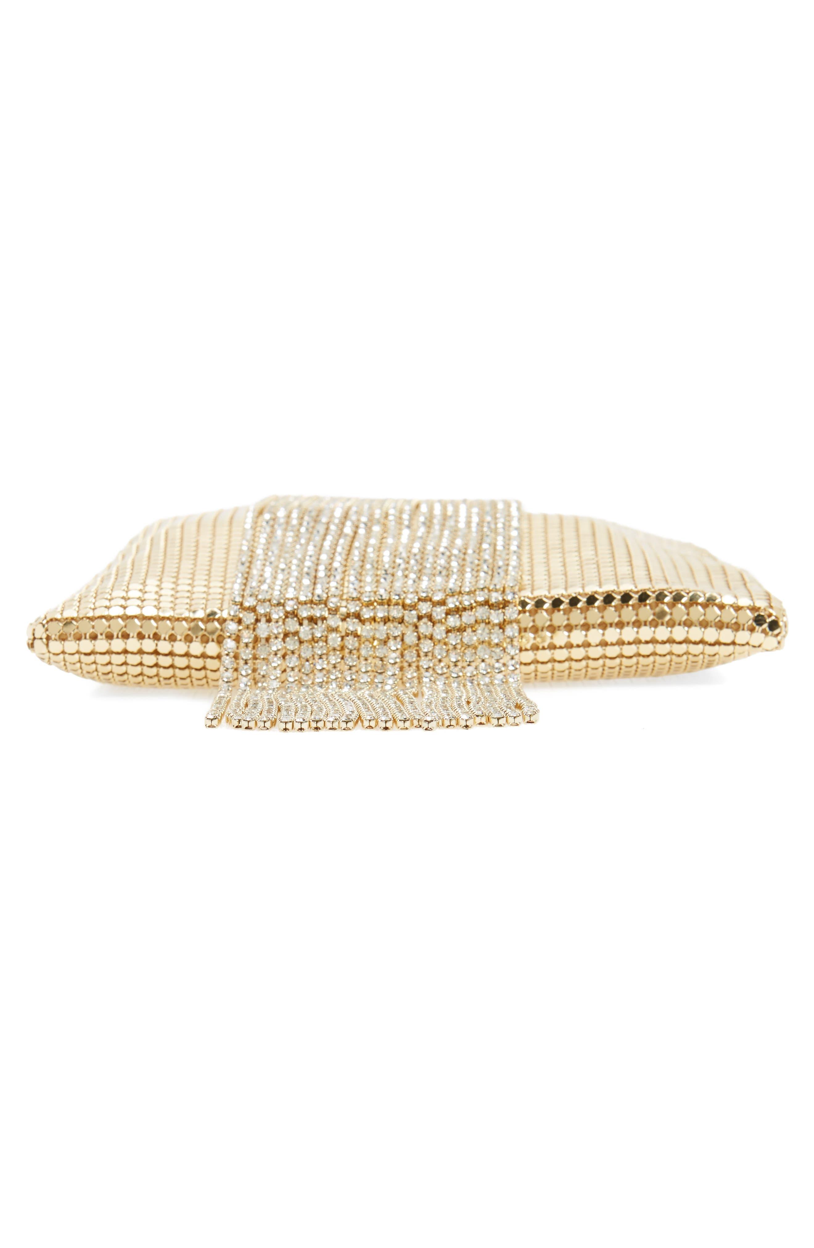 Alternate Image 6  - Whiting & Davis Cascade Crystal Fringe Mesh Bracelet Bag