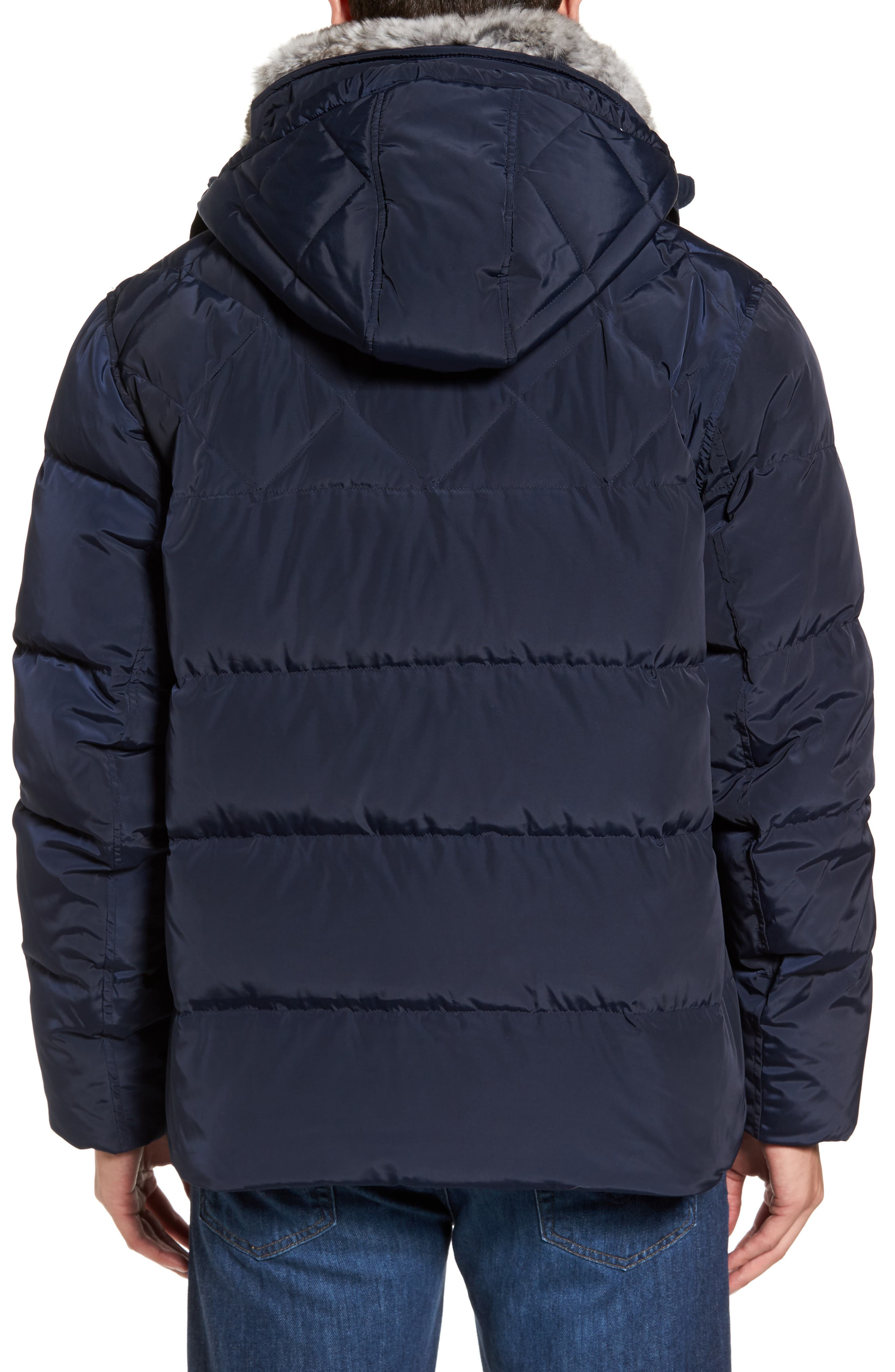 Alternate Image 2  - Marc New York Navan Quilted Down Jacket with Genuine Rabbit Fur Trim
