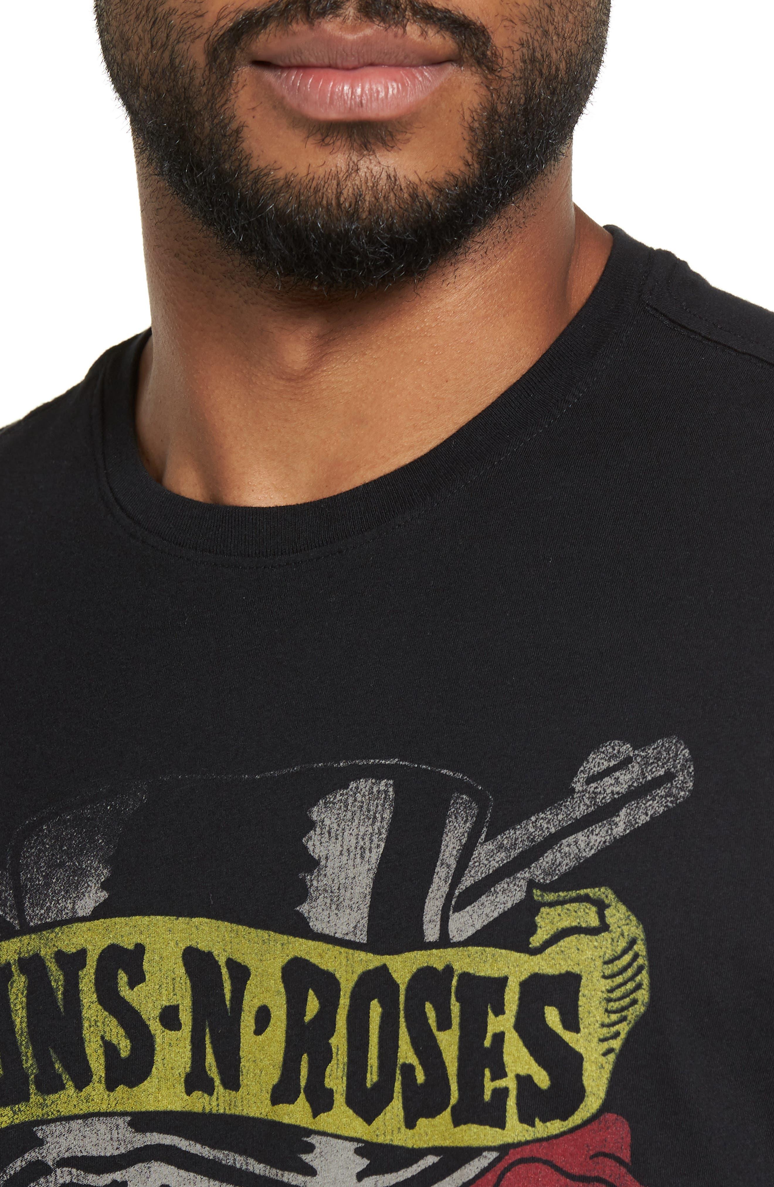 John Varvatos Guns N' Roses Graphic T-Shirt,                             Alternate thumbnail 4, color,                             Black