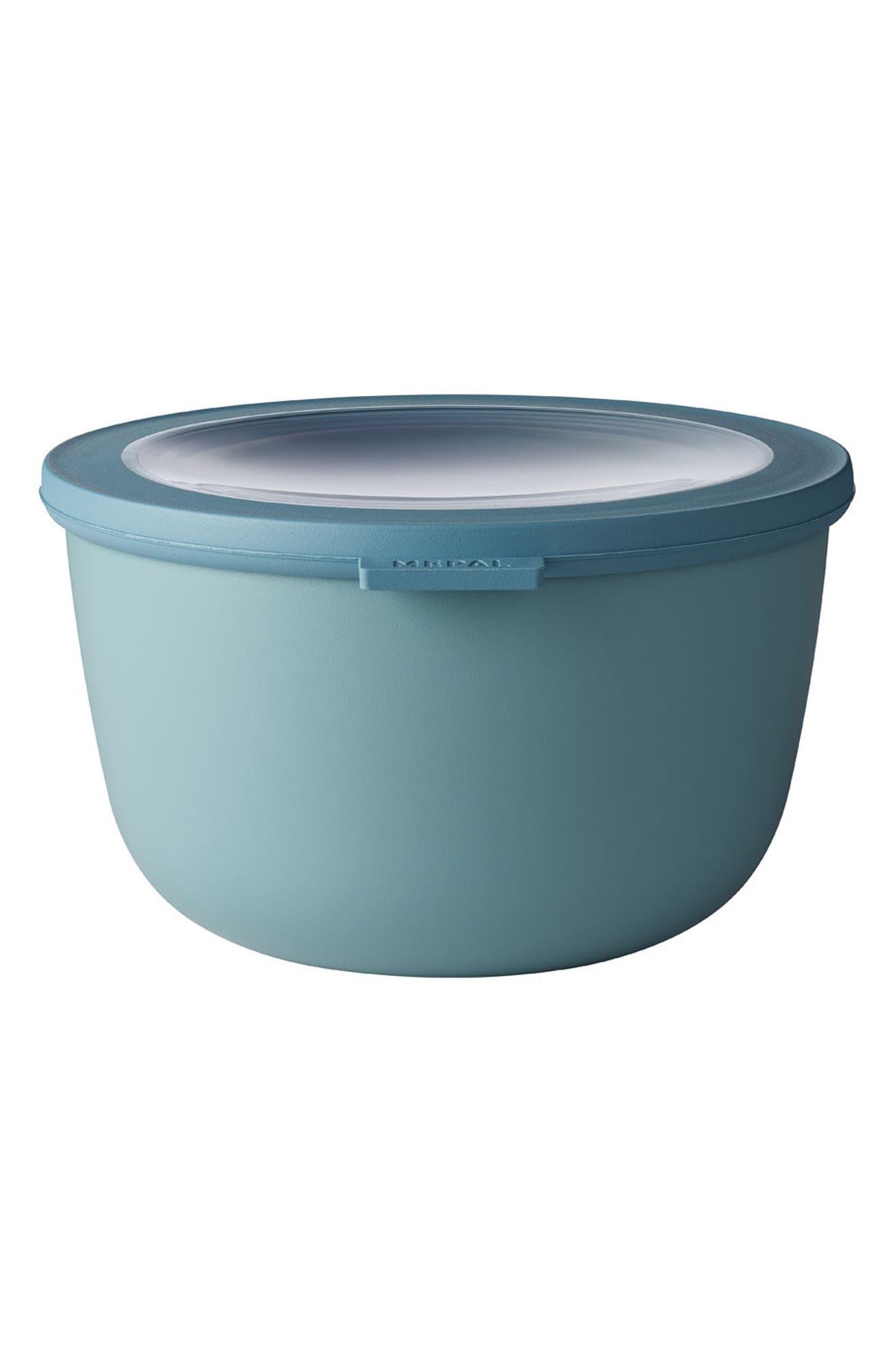 Cirqula Set of 4 Storage Bowls,                             Alternate thumbnail 5, color,                             Blue