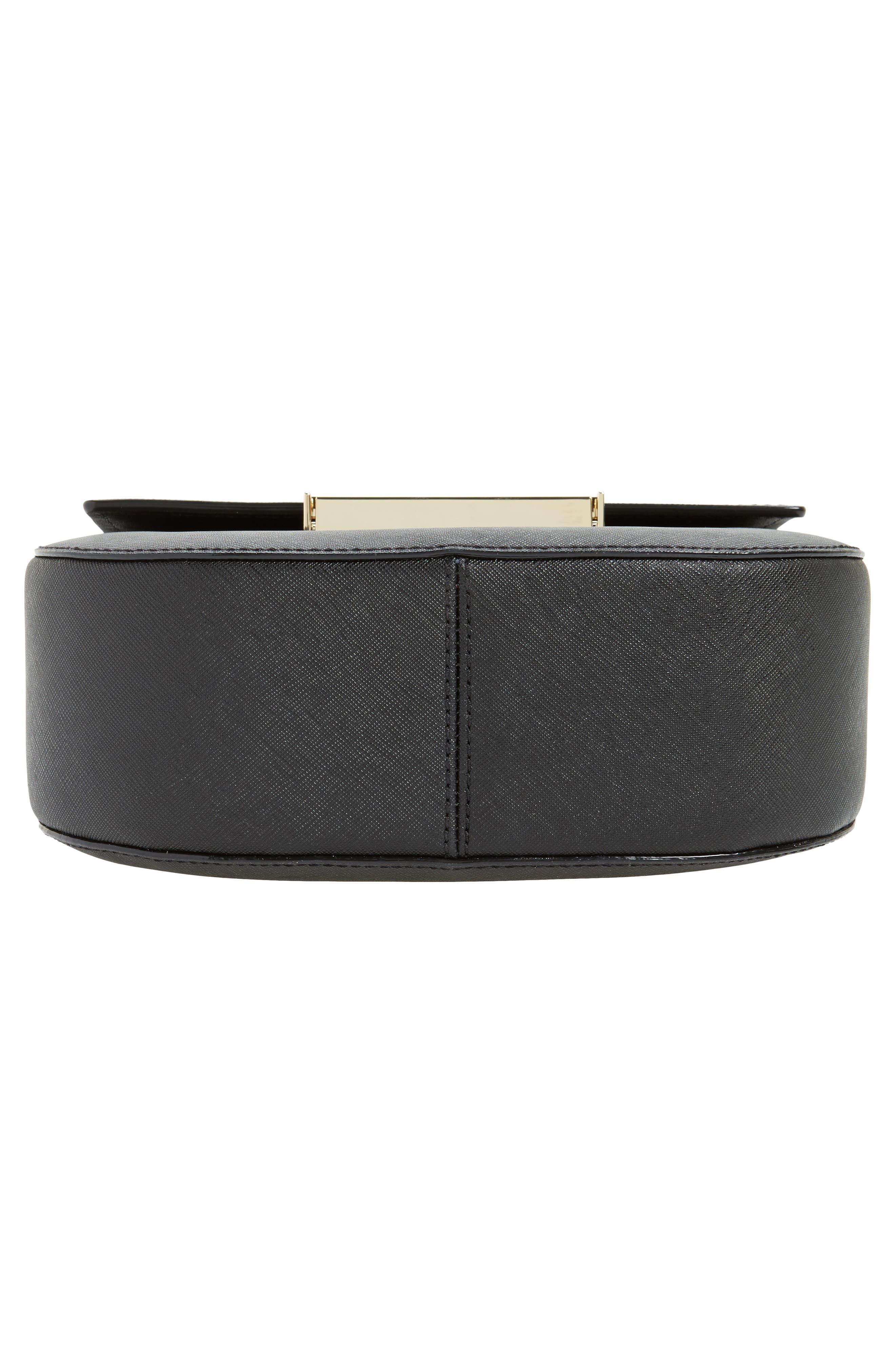 make it mine - byrdie leather saddle bag,                             Alternate thumbnail 5, color,                             Black