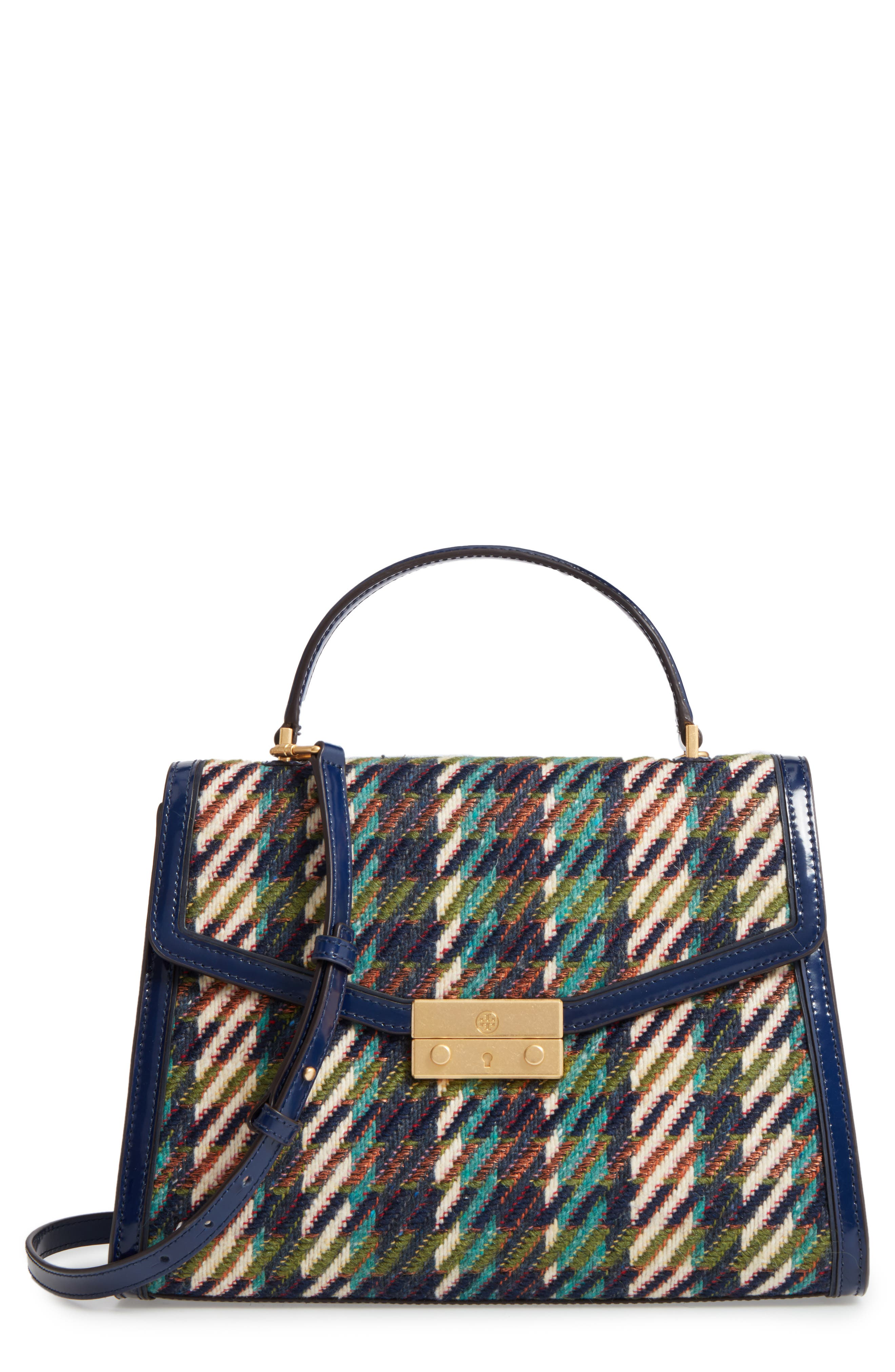 Main Image - Tory Burch Juliette Tweed Top Handle Satchel