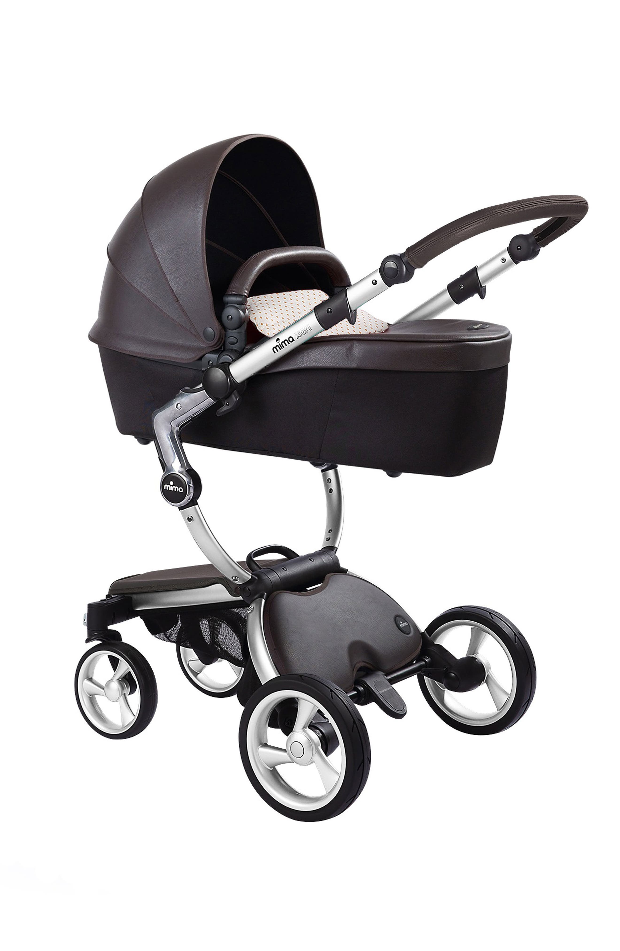 Alternate Image 2  - Mima Xari Aluminum Chassis Stroller with Reversible Reclining Seat & Carrycot