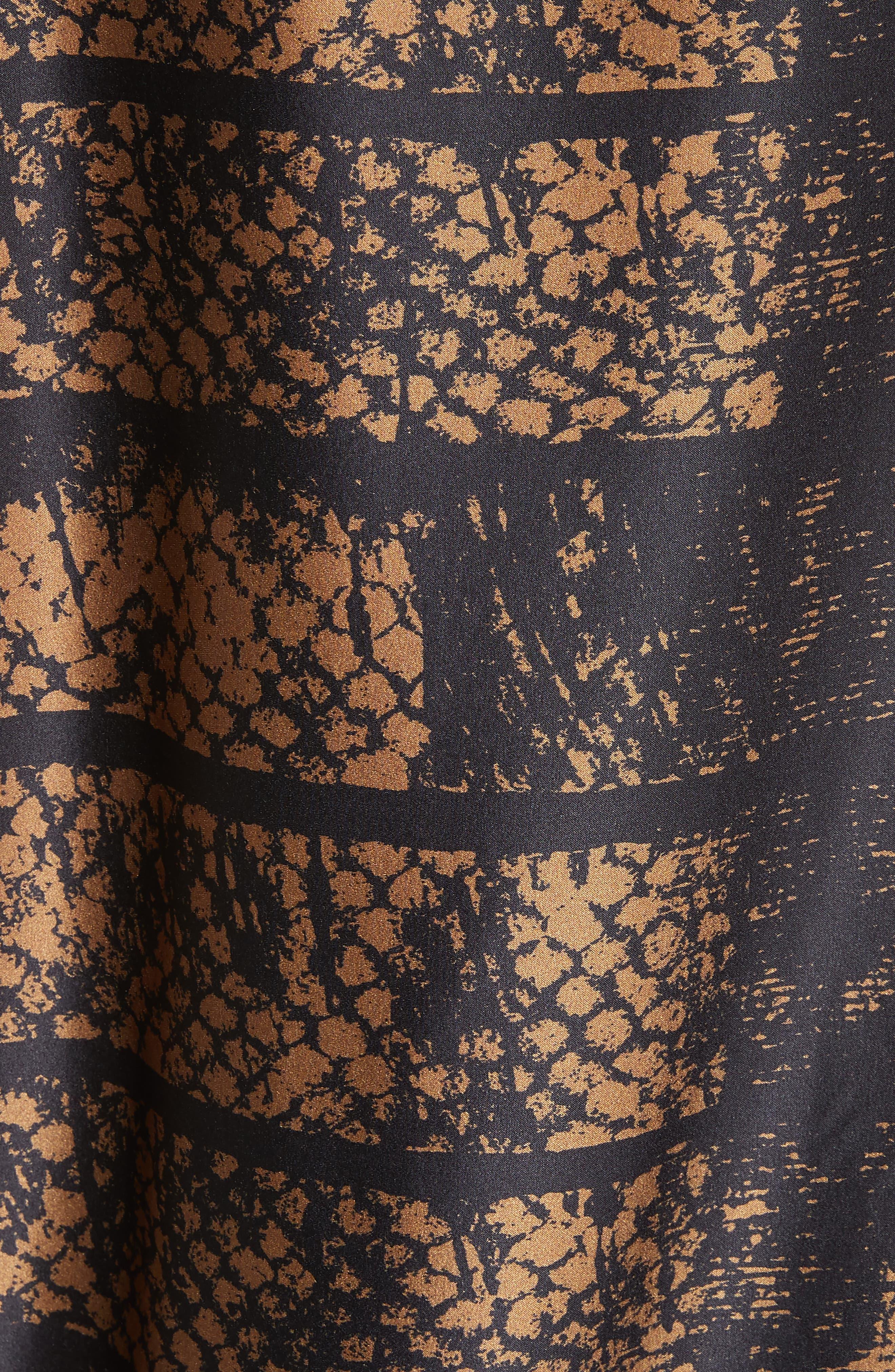 Lui Dot Mesh Stretch Silk Charmeuse Tunic,                             Alternate thumbnail 5, color,                             Dot Mesh Bronze
