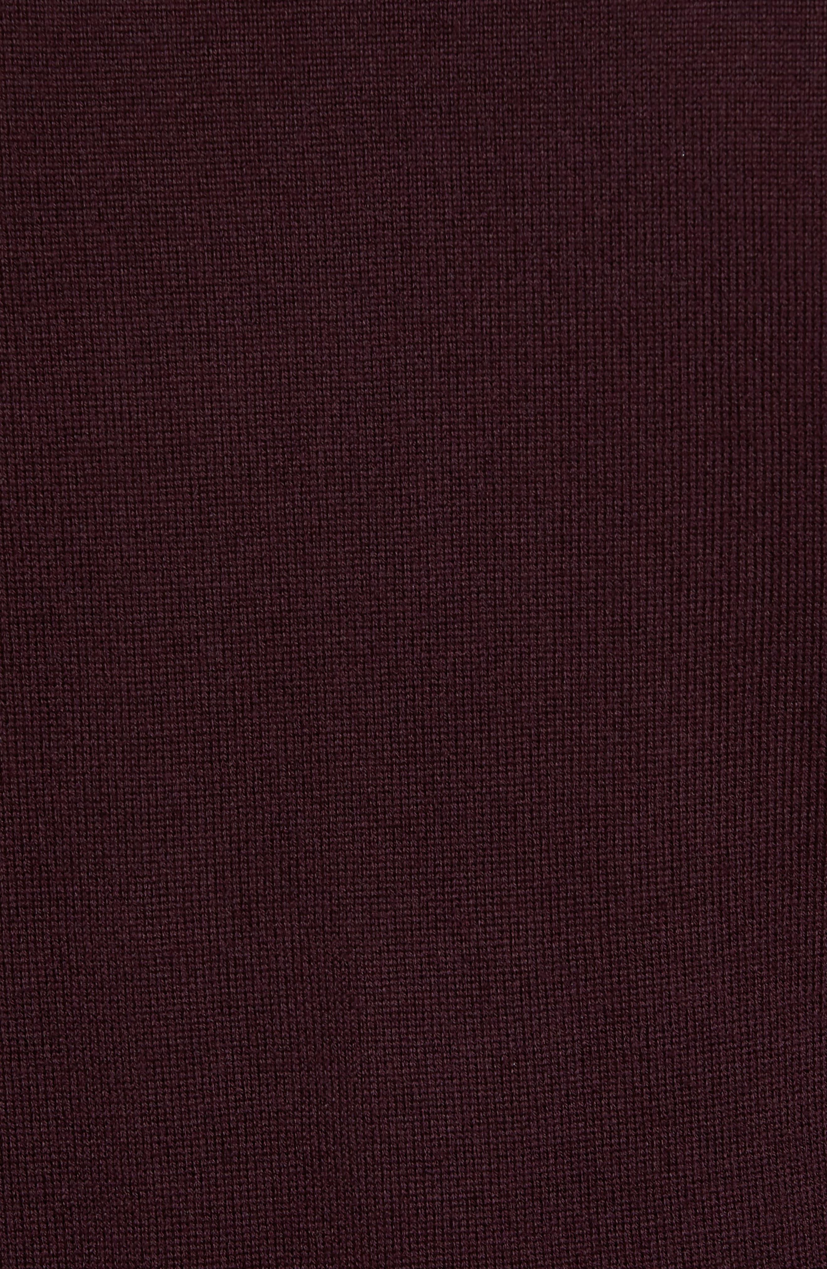 Merino V-Neck Sweater,                             Alternate thumbnail 5, color,                             Port