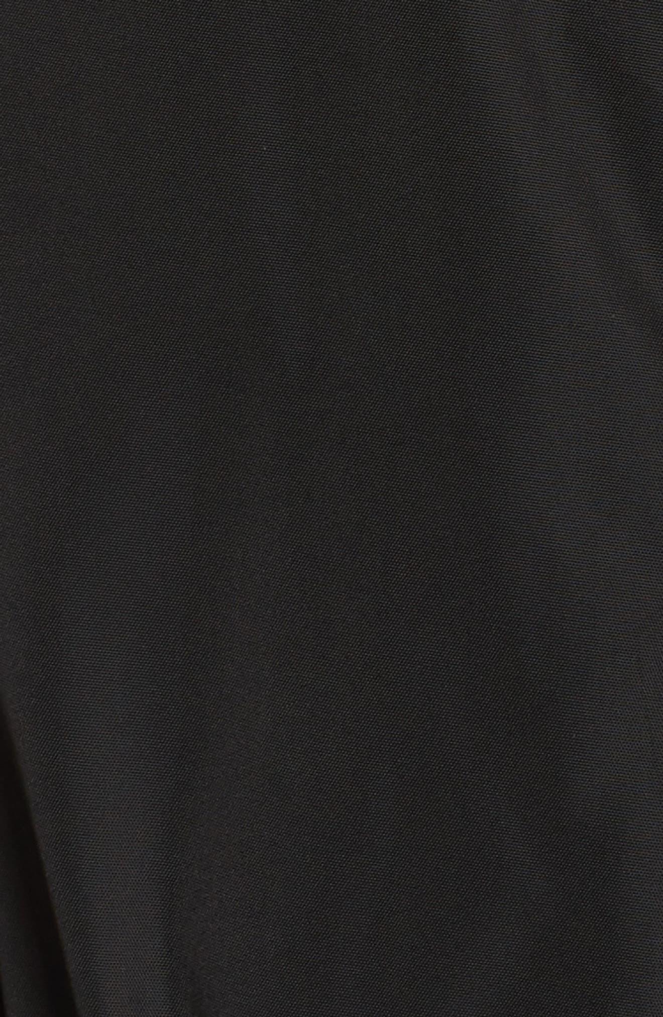 Hooded Water Repellent Anorak,                             Alternate thumbnail 5, color,                             Black