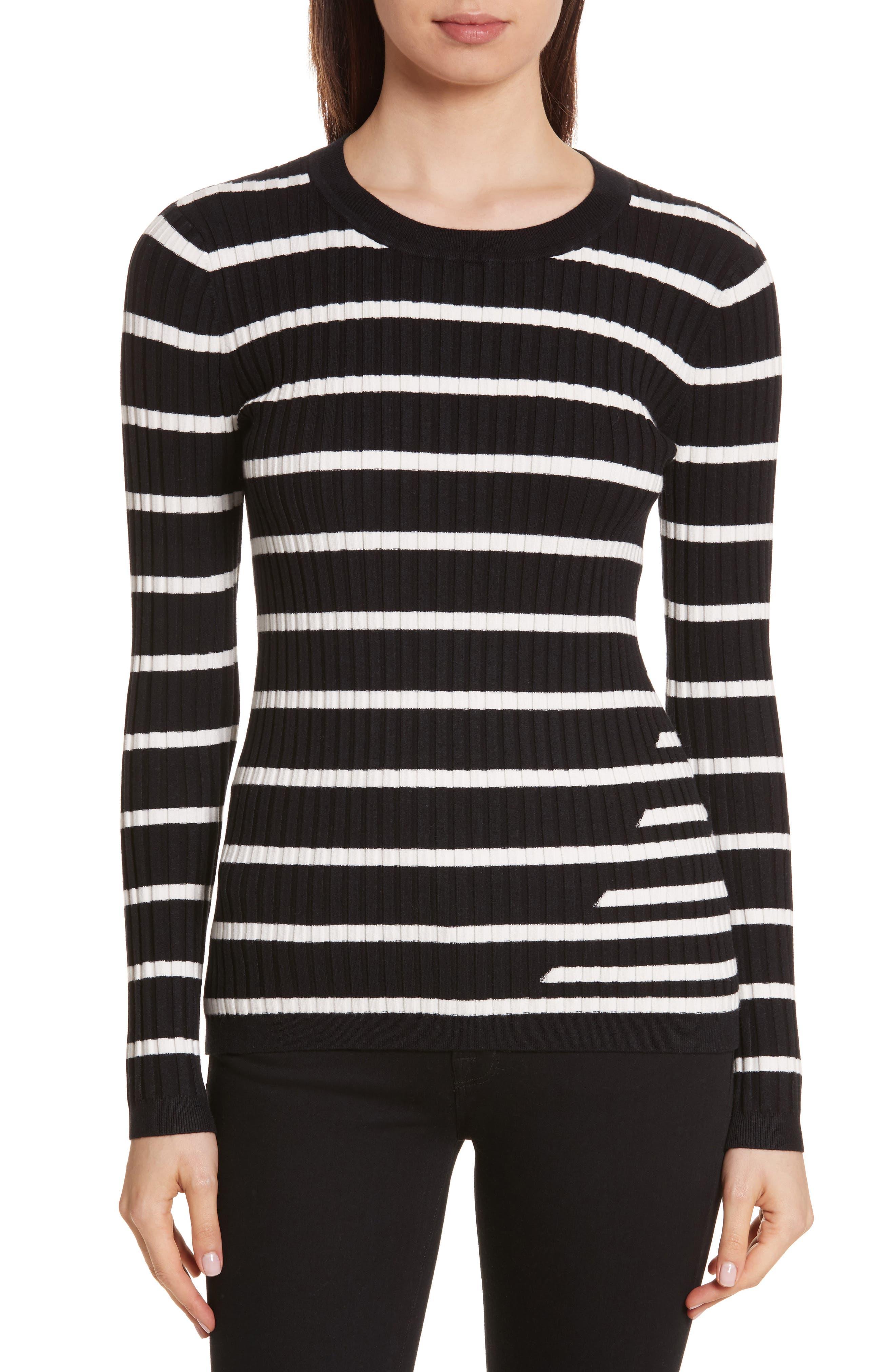 Main Image - T by Alexander Wang Rib Knit Intarsia Stripe Sweater