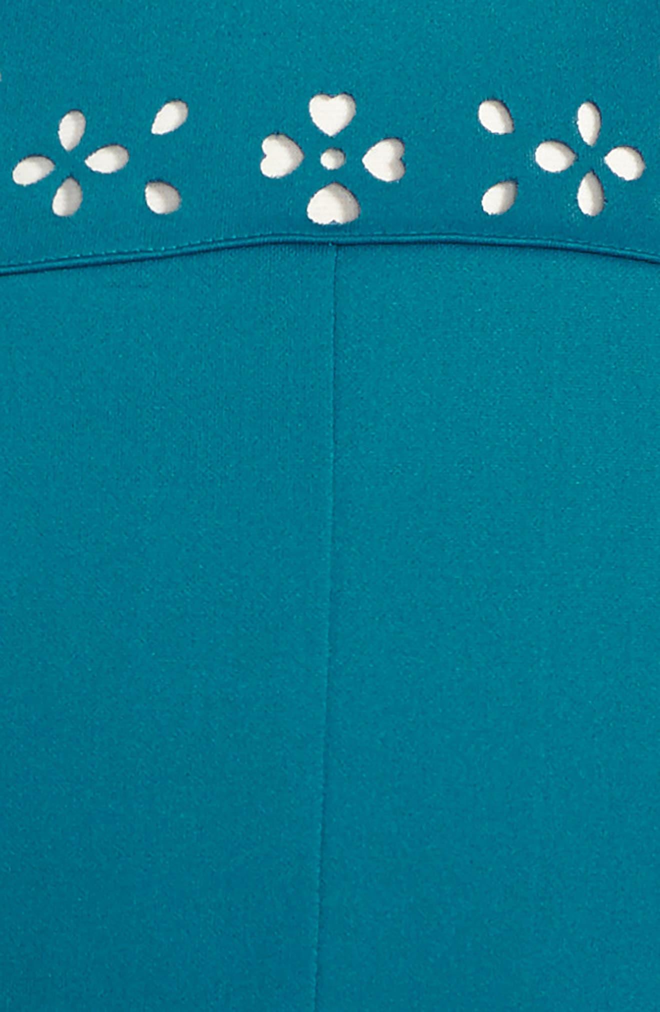 Cutout Scuba Dress,                             Alternate thumbnail 3, color,                             Teal