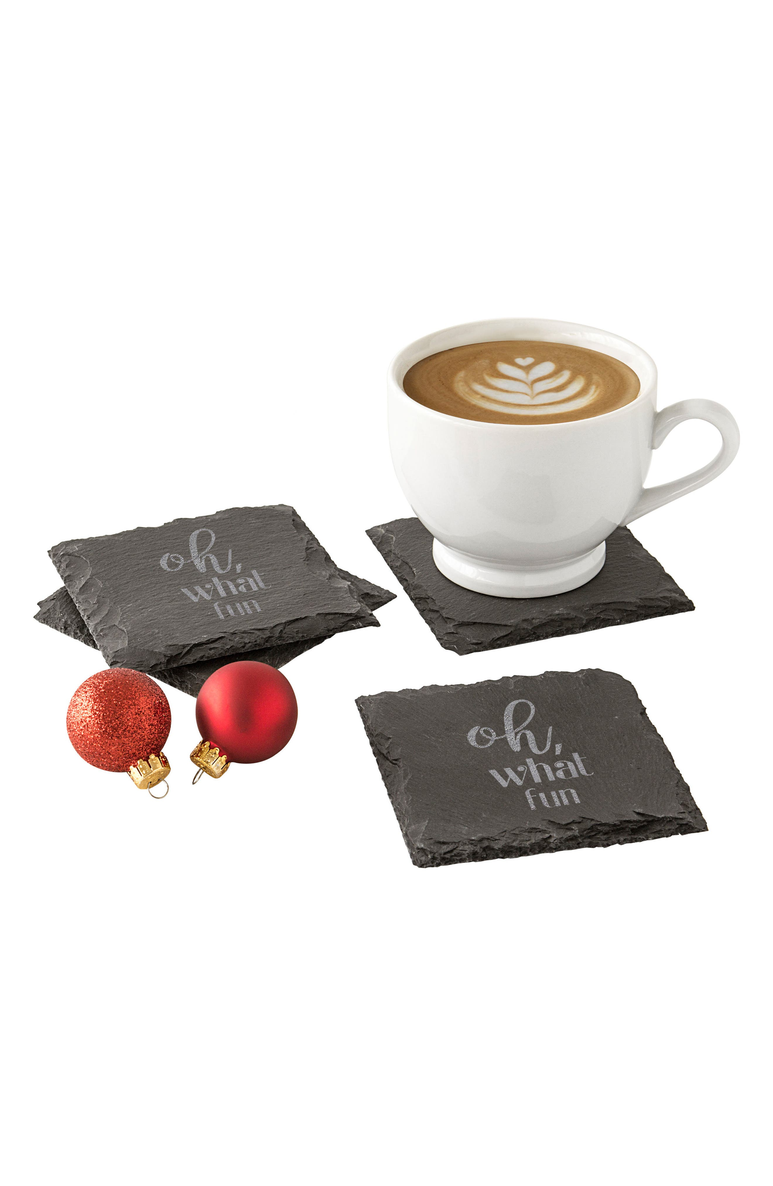 Cathy's Concepts Oh What Fun Set of 4 Slate Coasters