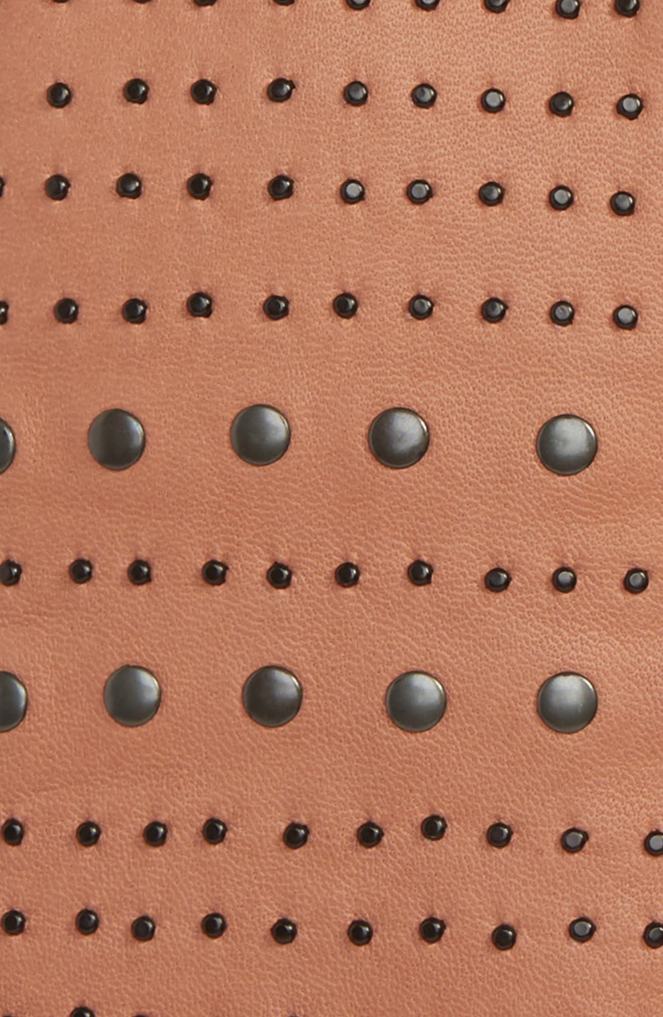 Studded Lambskin Leather Gloves,                             Alternate thumbnail 2, color,                             Figue