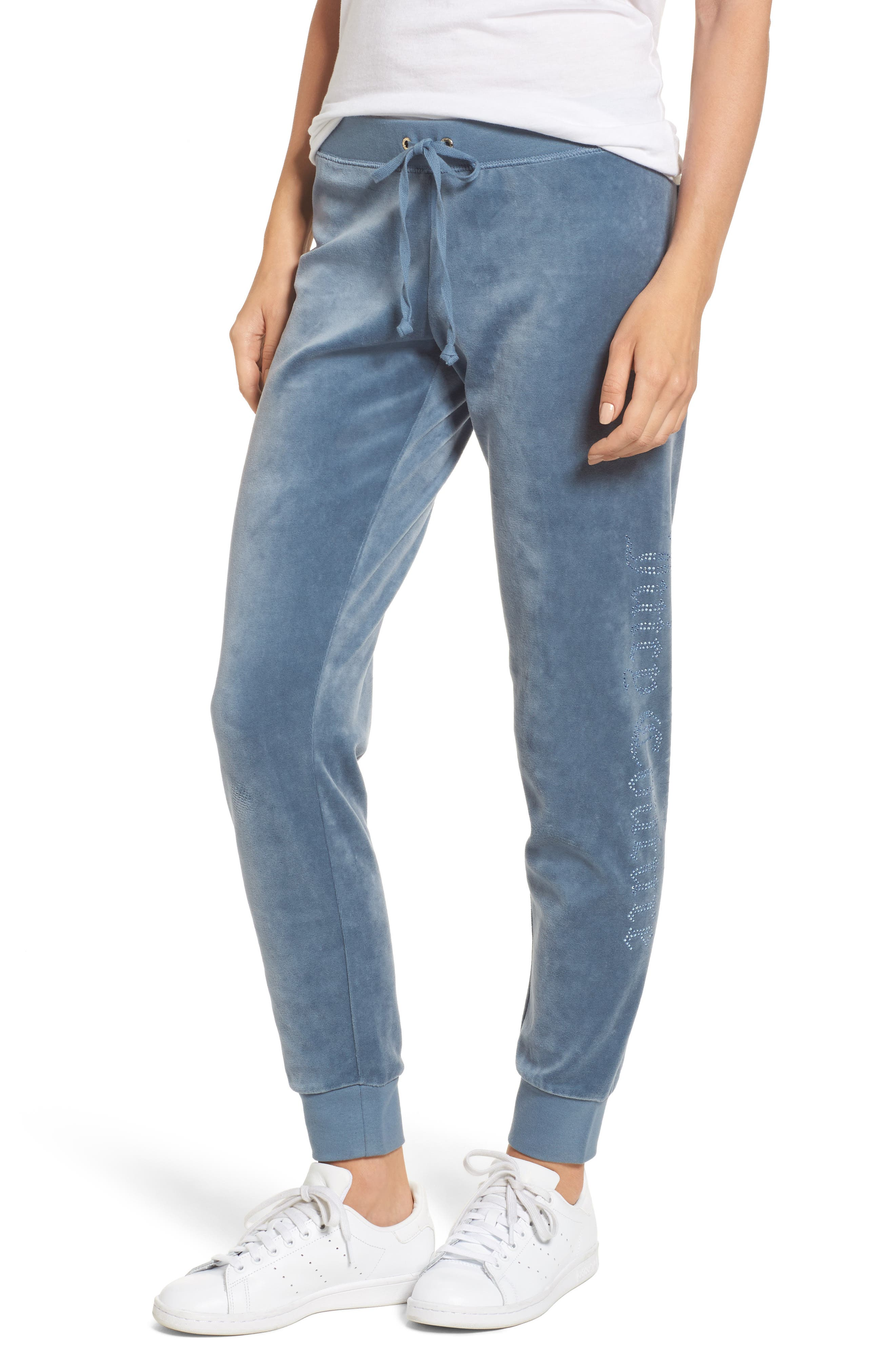 Alternate Image 1 Selected - Juicy Couture Zuma Crystal Velour Pants