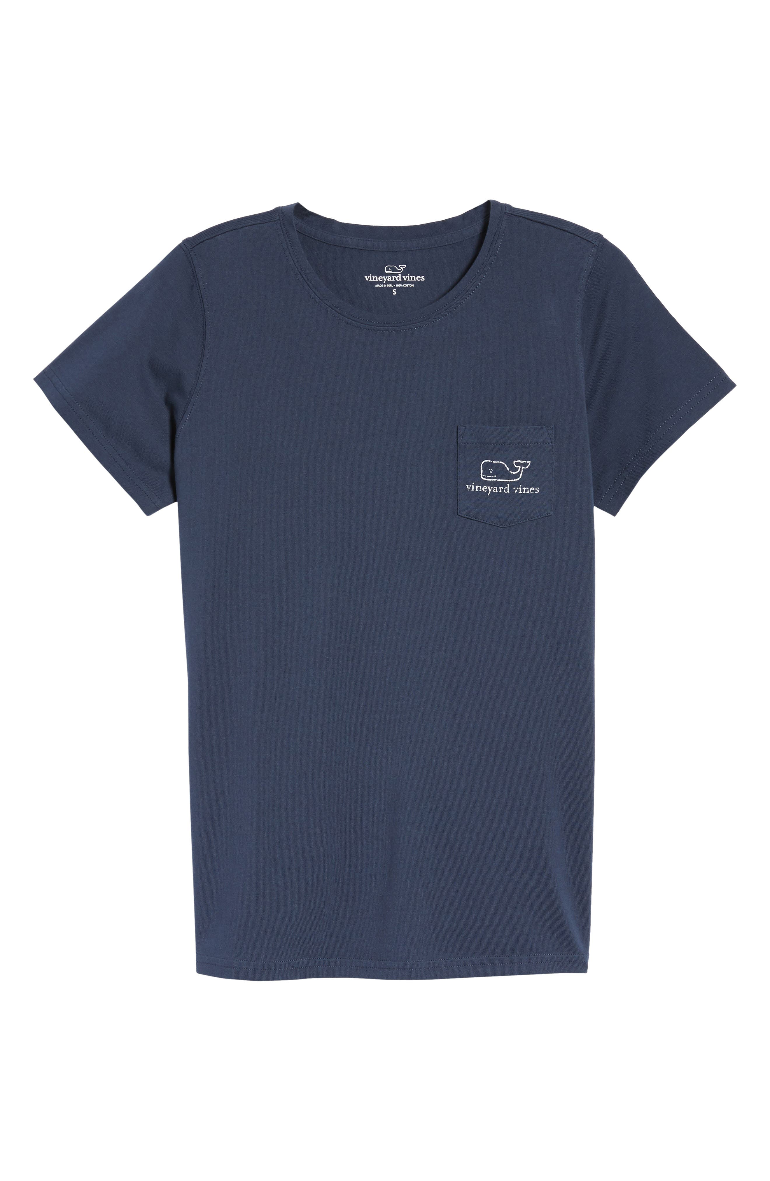 Whale Graphic Short Sleeve Pocket Tee,                             Main thumbnail 1, color,                             Blue Blaze