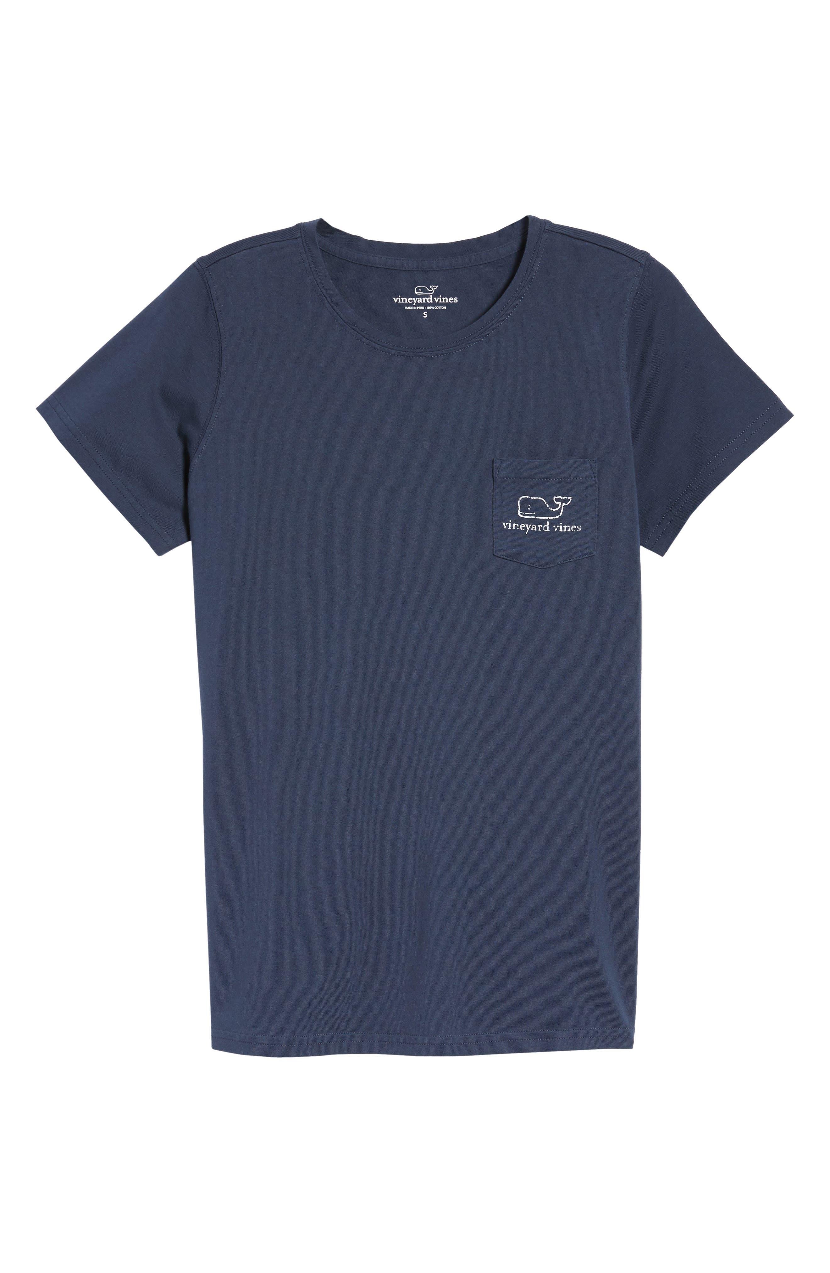 Whale Graphic Short Sleeve Pocket Tee,                         Main,                         color, Blue Blaze