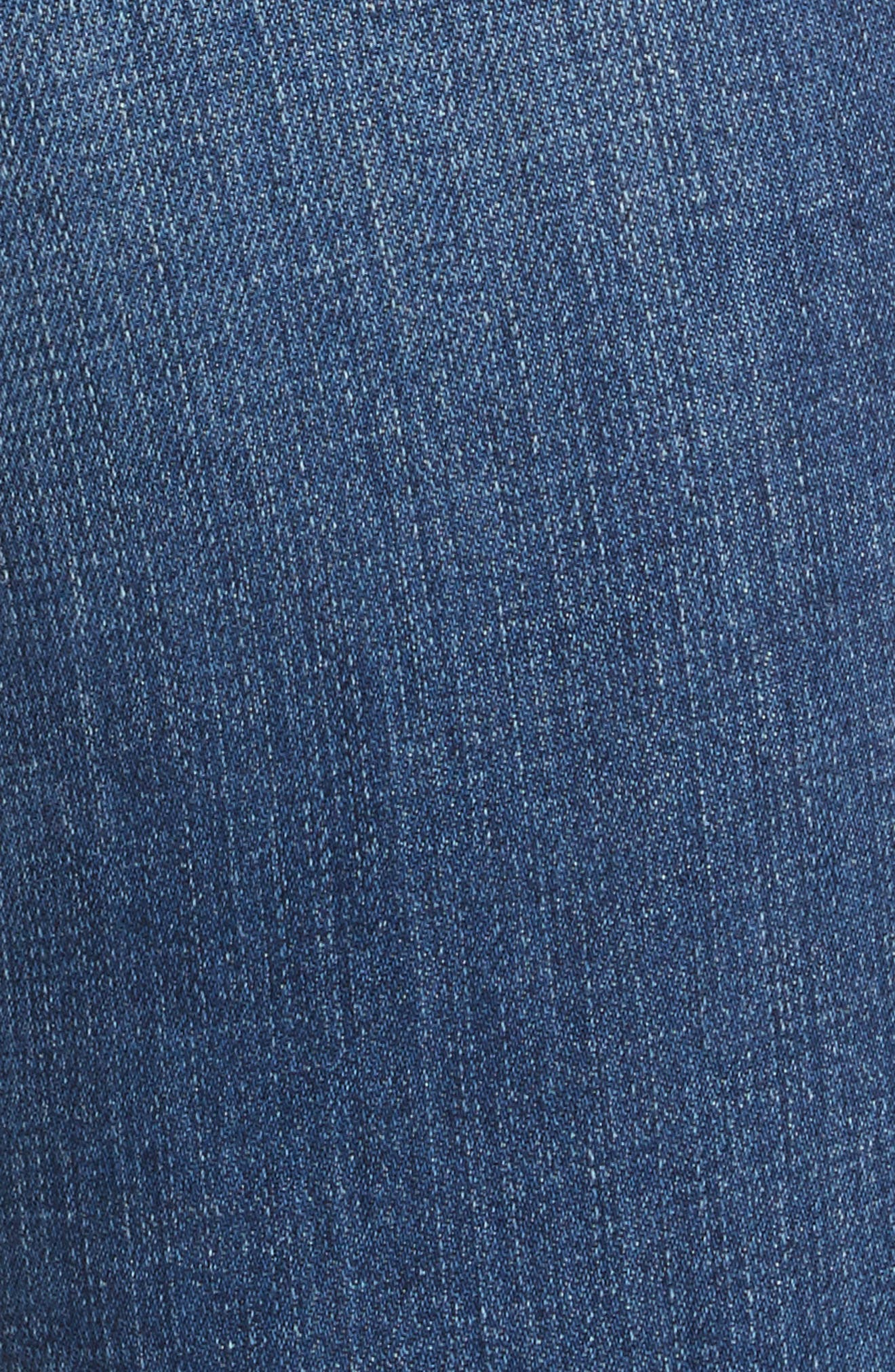 Laguna French High Waist Release Hem Jeans,                             Alternate thumbnail 5, color,                             Indigo