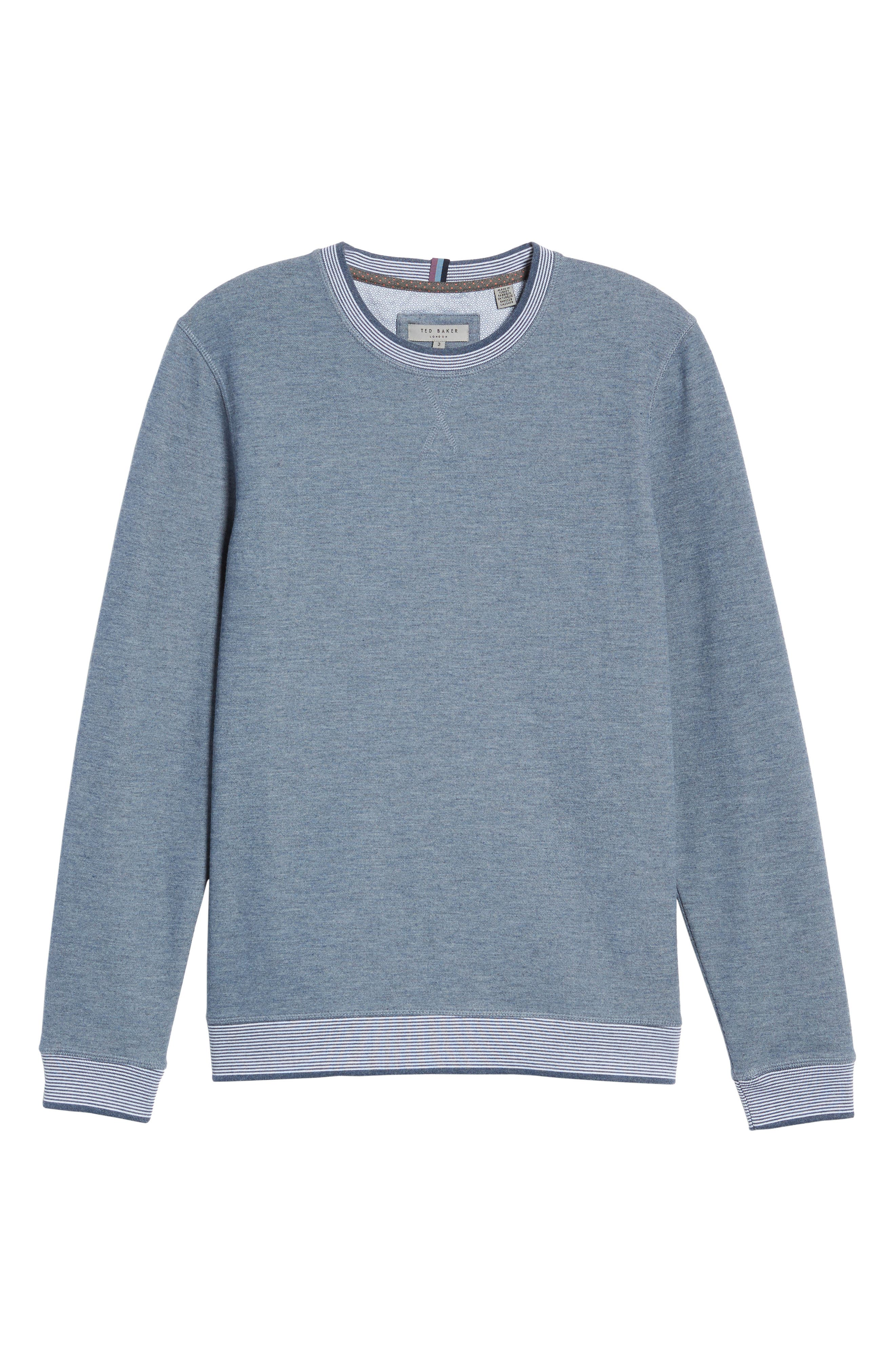 Alternate Image 5  - Ted Baker London Kaspa Modern Slim Fit Sweatshirt