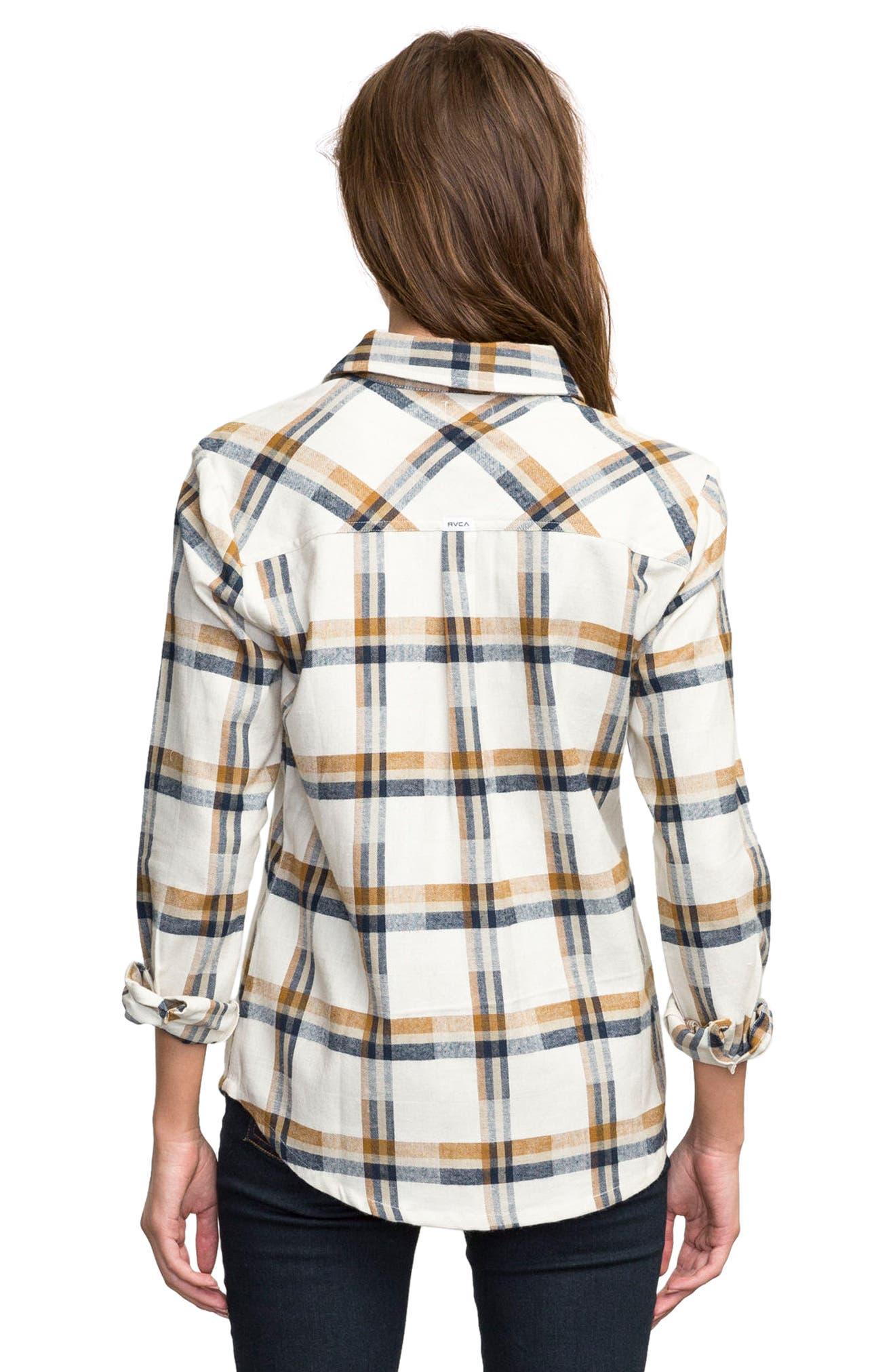 Plaid Flannel Shirt,                             Alternate thumbnail 2, color,                             Slb - Silver Bleach