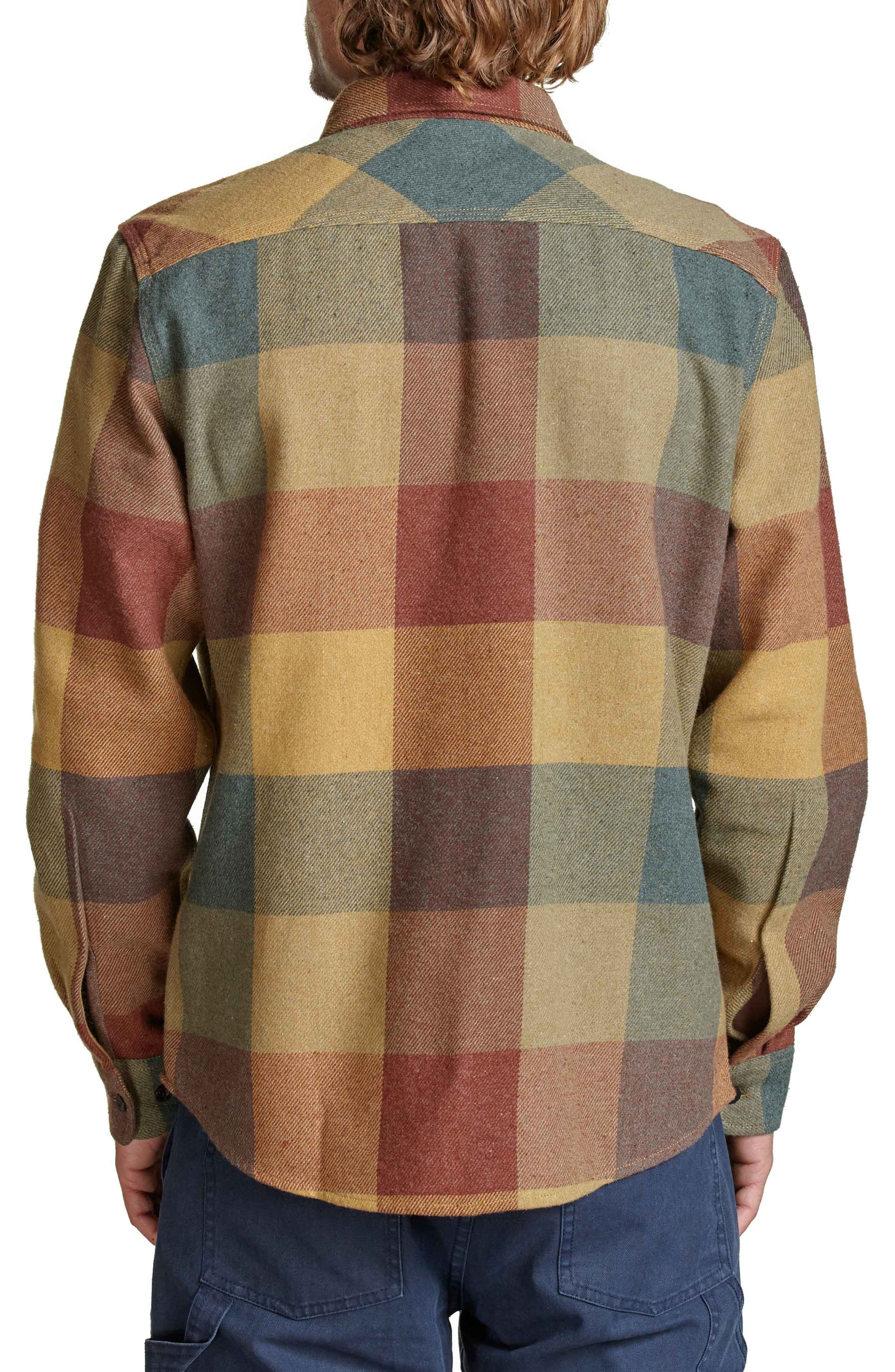 Bowery Flannel Shirt,                             Alternate thumbnail 2, color,                             Rust/ Copper