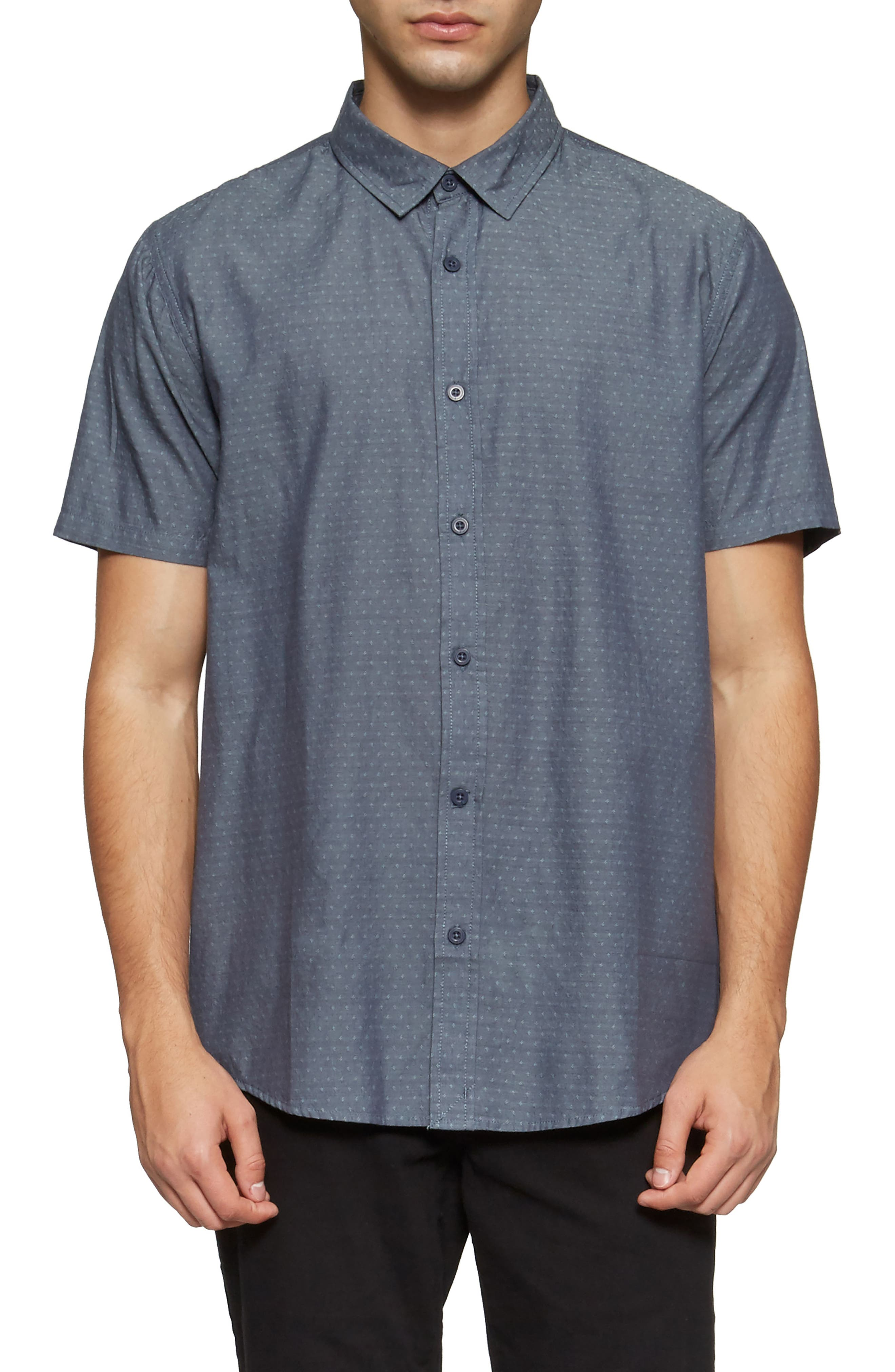 Clarke Woven Shirt,                         Main,                         color, Shadow Blue Link