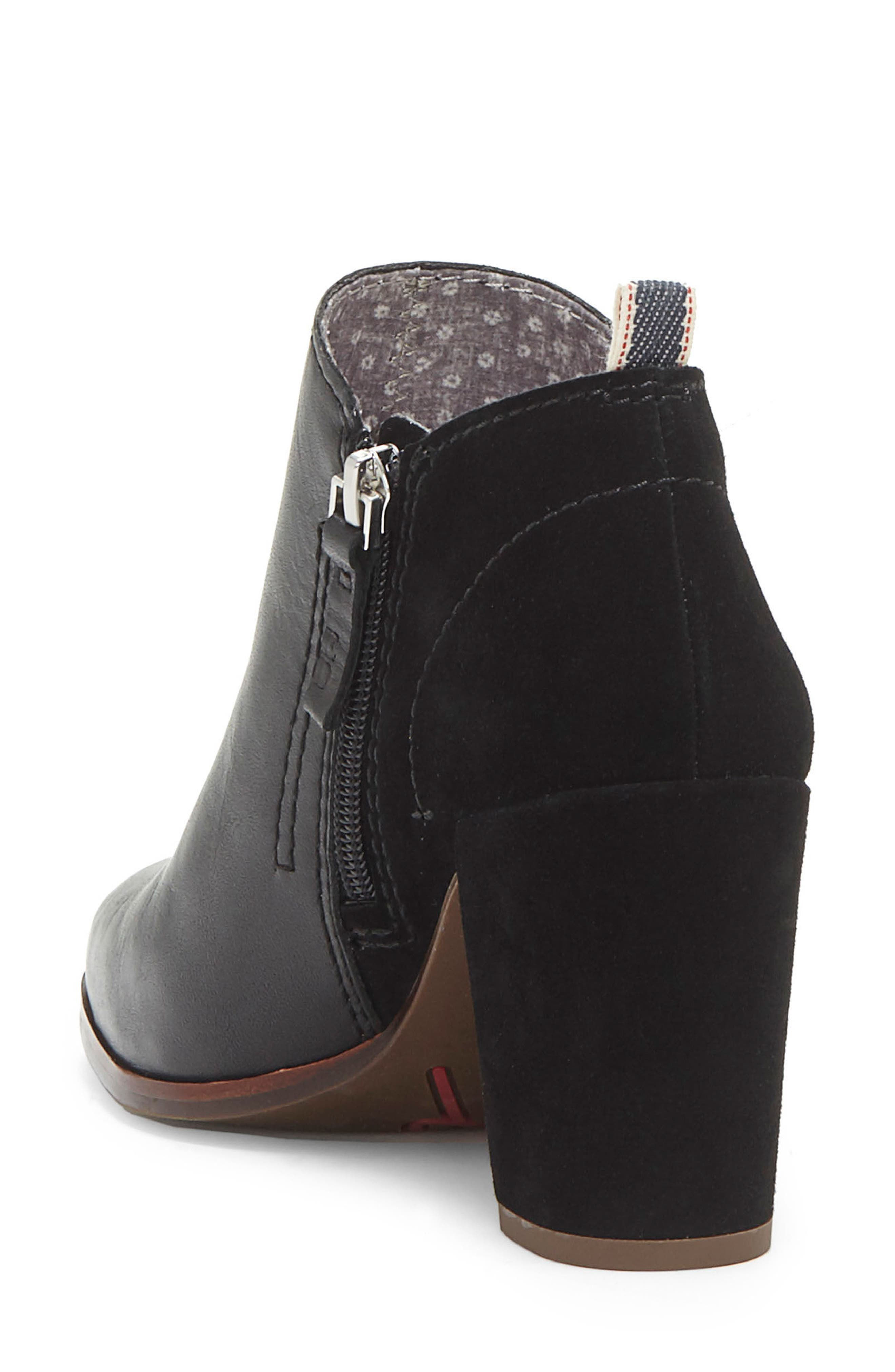 Madeleina Bootie,                             Alternate thumbnail 2, color,                             Black Leather