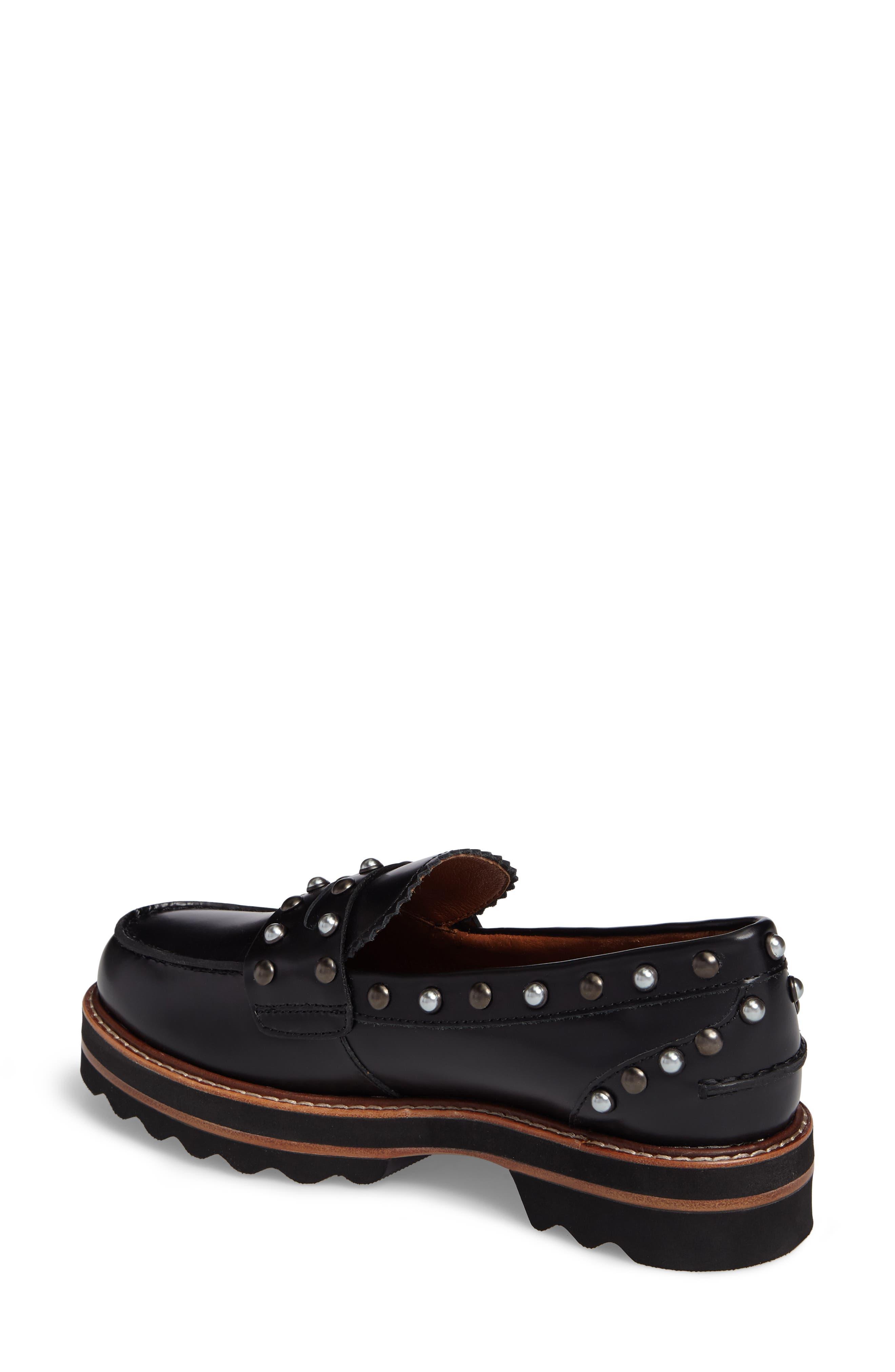 Lenox Loafer,                             Alternate thumbnail 2, color,                             Black Leather