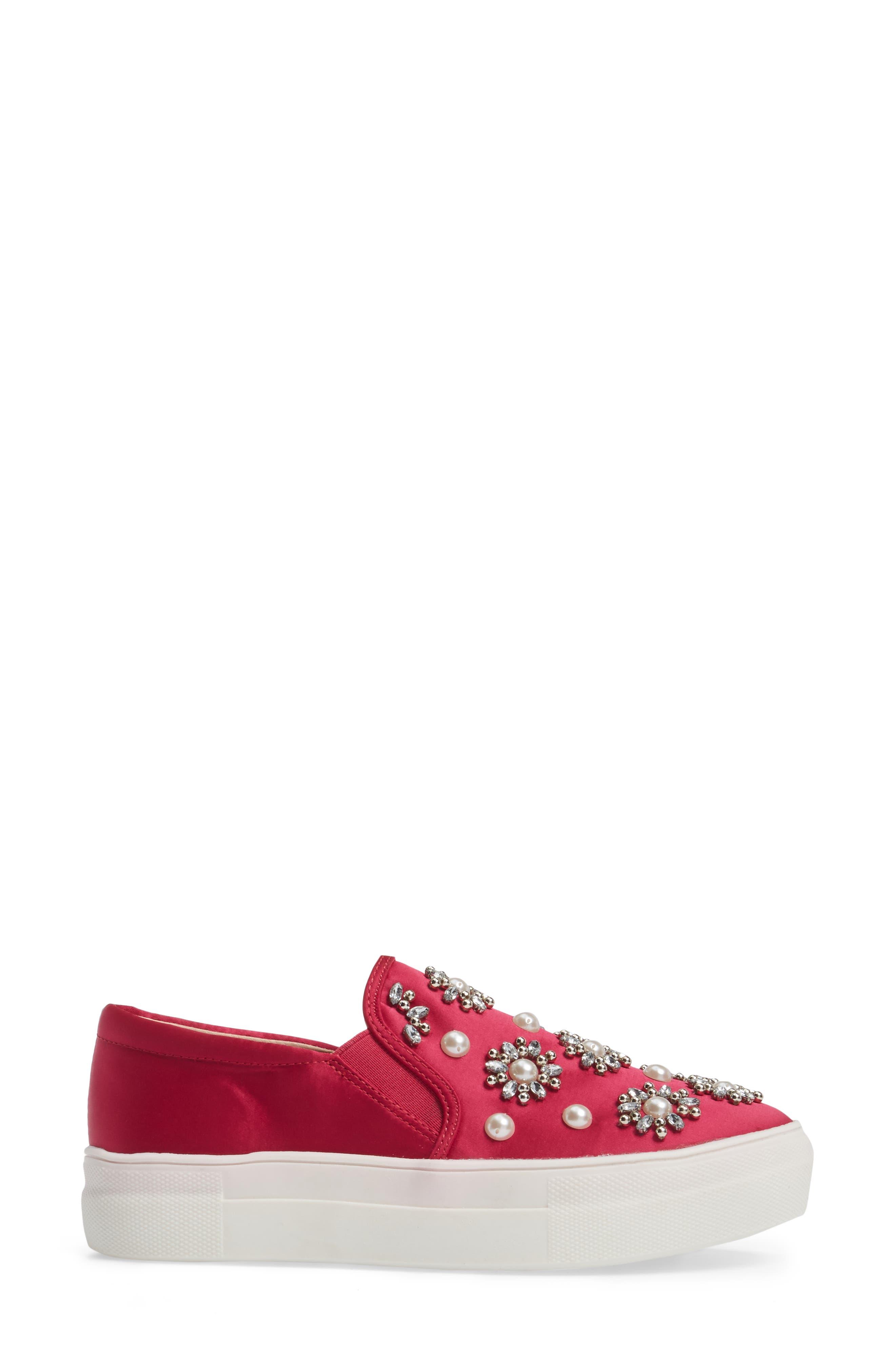 Tilt Embellished Slip-On Sneaker,                             Alternate thumbnail 3, color,                             Pink Multi