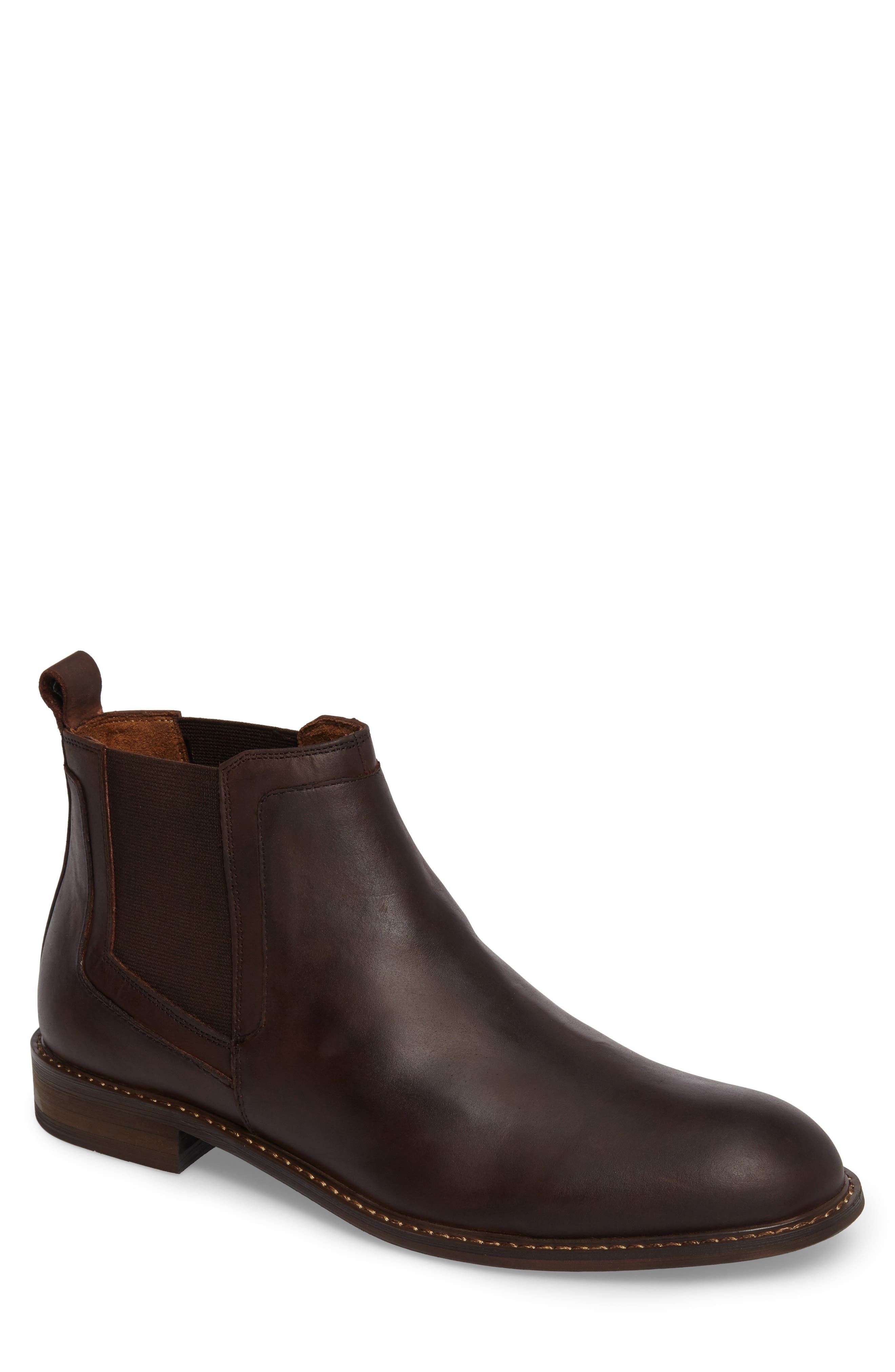 Chlesea Boot,                             Main thumbnail 1, color,                             Brown Leather