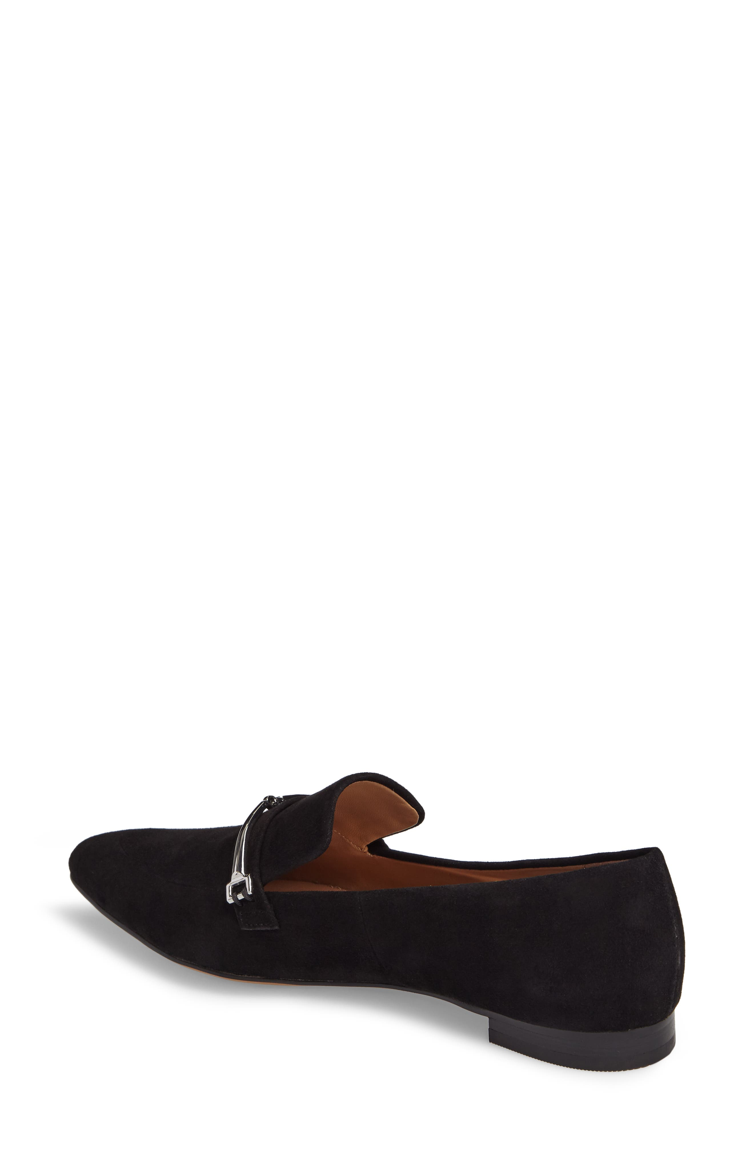 Molly Loafer,                             Alternate thumbnail 2, color,                             Black Suede