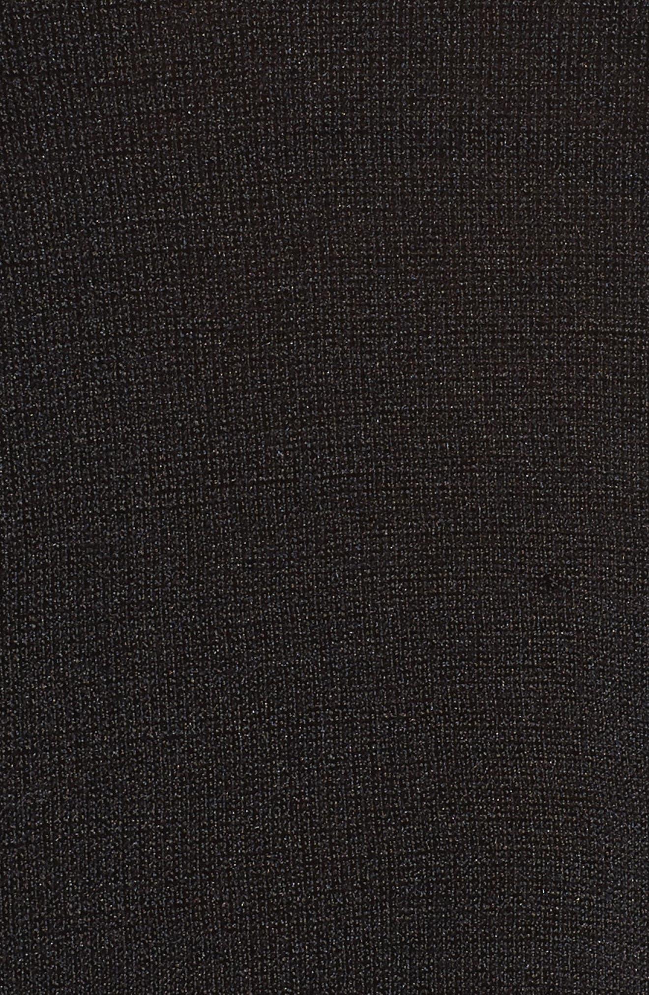 Chiffon Trim Tank,                             Alternate thumbnail 5, color,                             Black Onyx