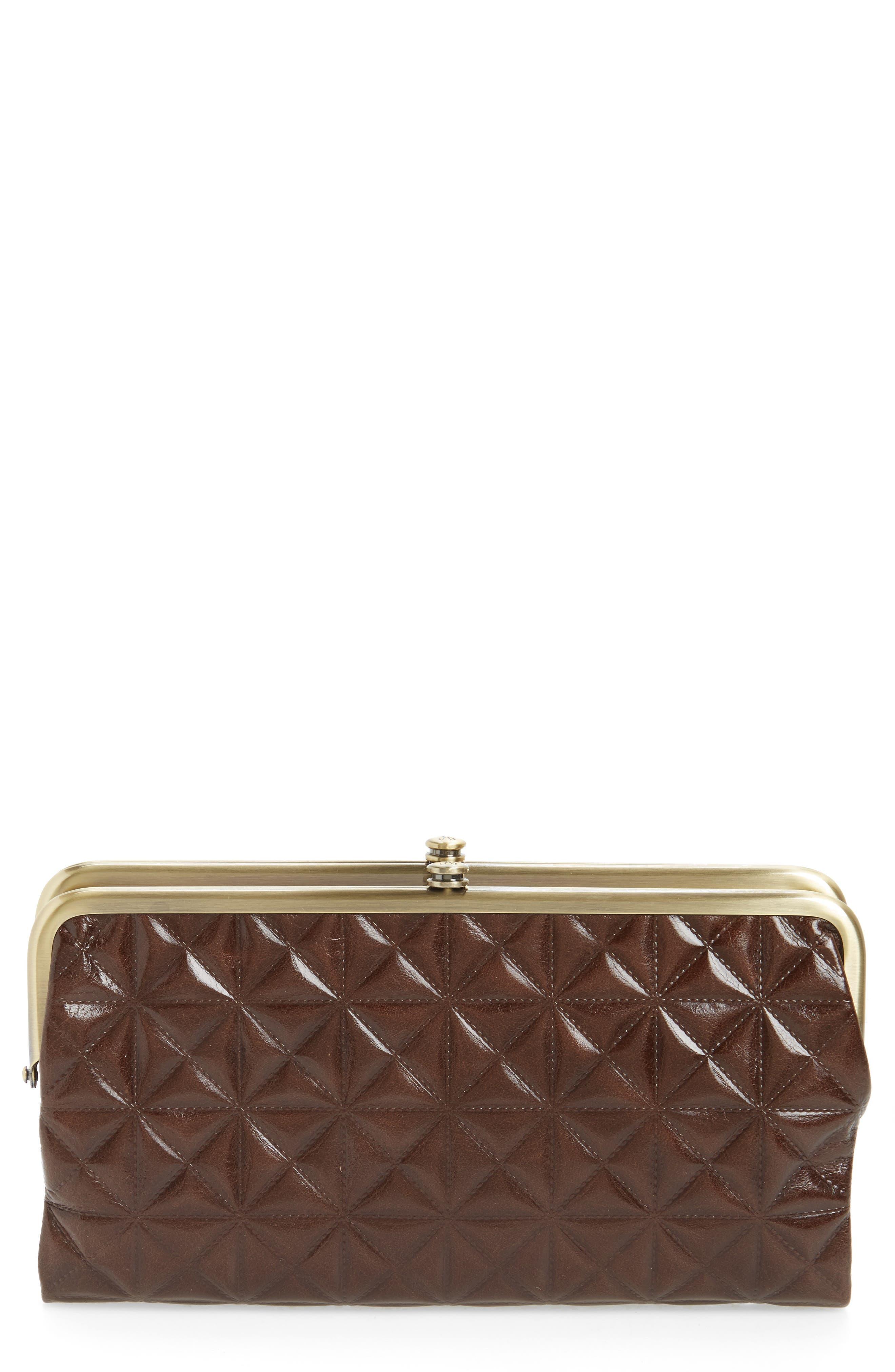 Main Image - Hobo Lauren Quilted Calfskin Leather Wallet