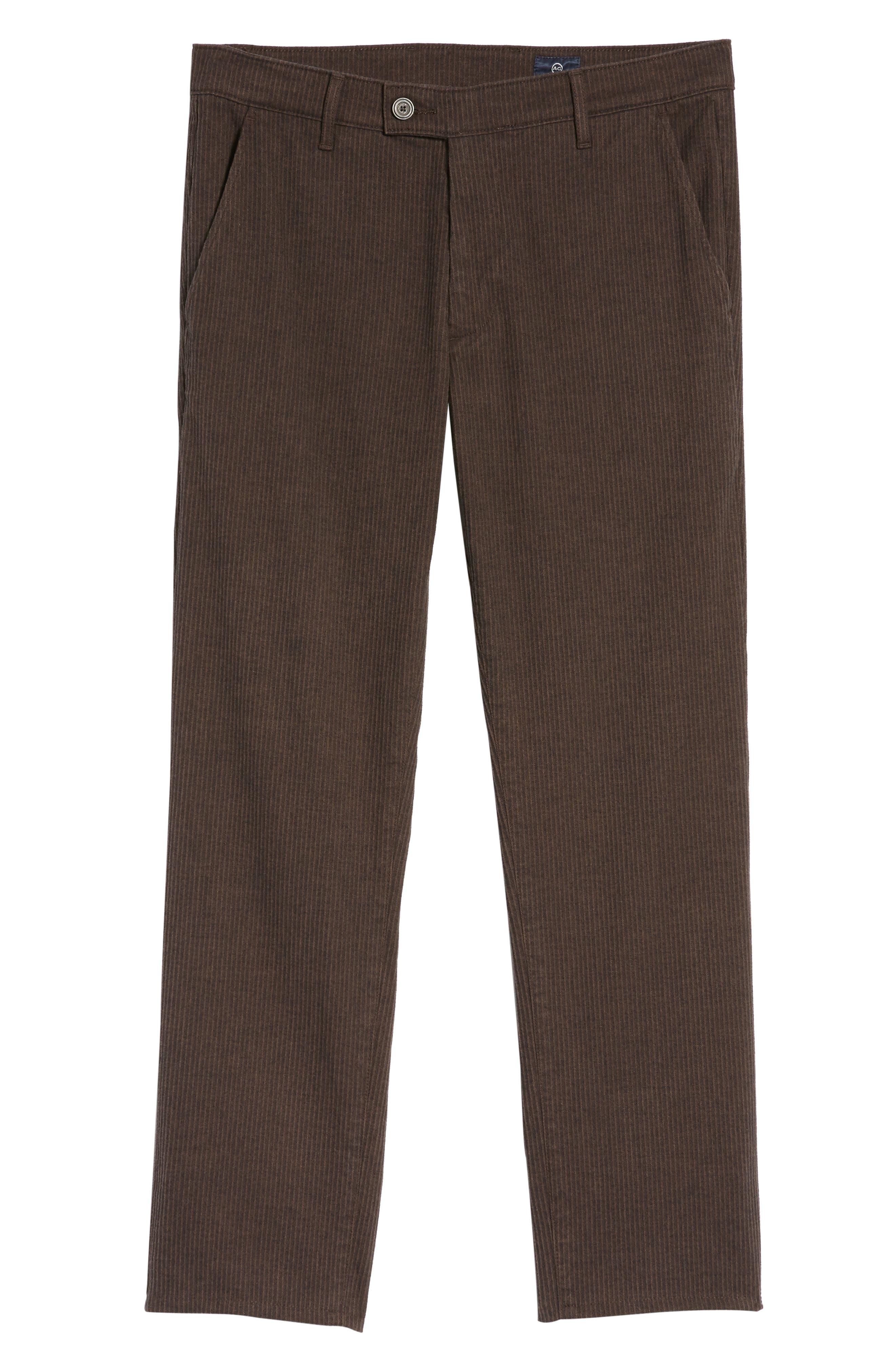 Marshall Slim Fit Pinstripe Pants,                             Alternate thumbnail 5, color,                             Dark Oakwood