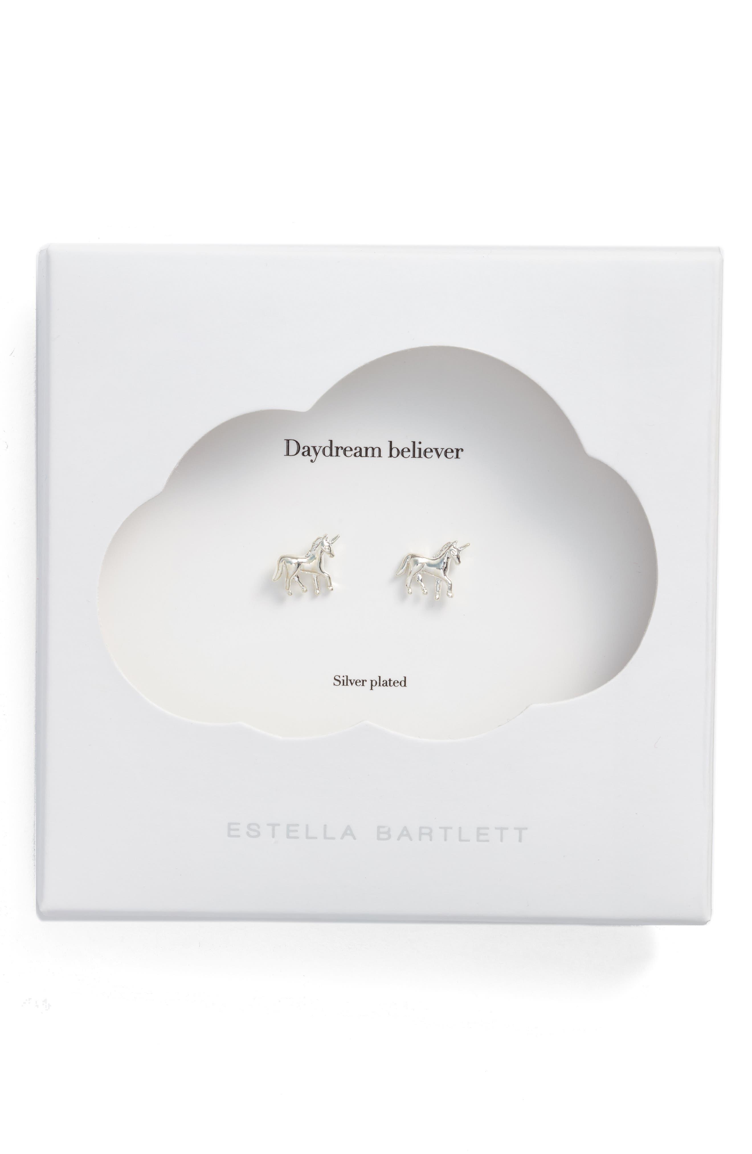 Alternate Image 1 Selected - Estella Bartlett Unicorn Stud Earrings