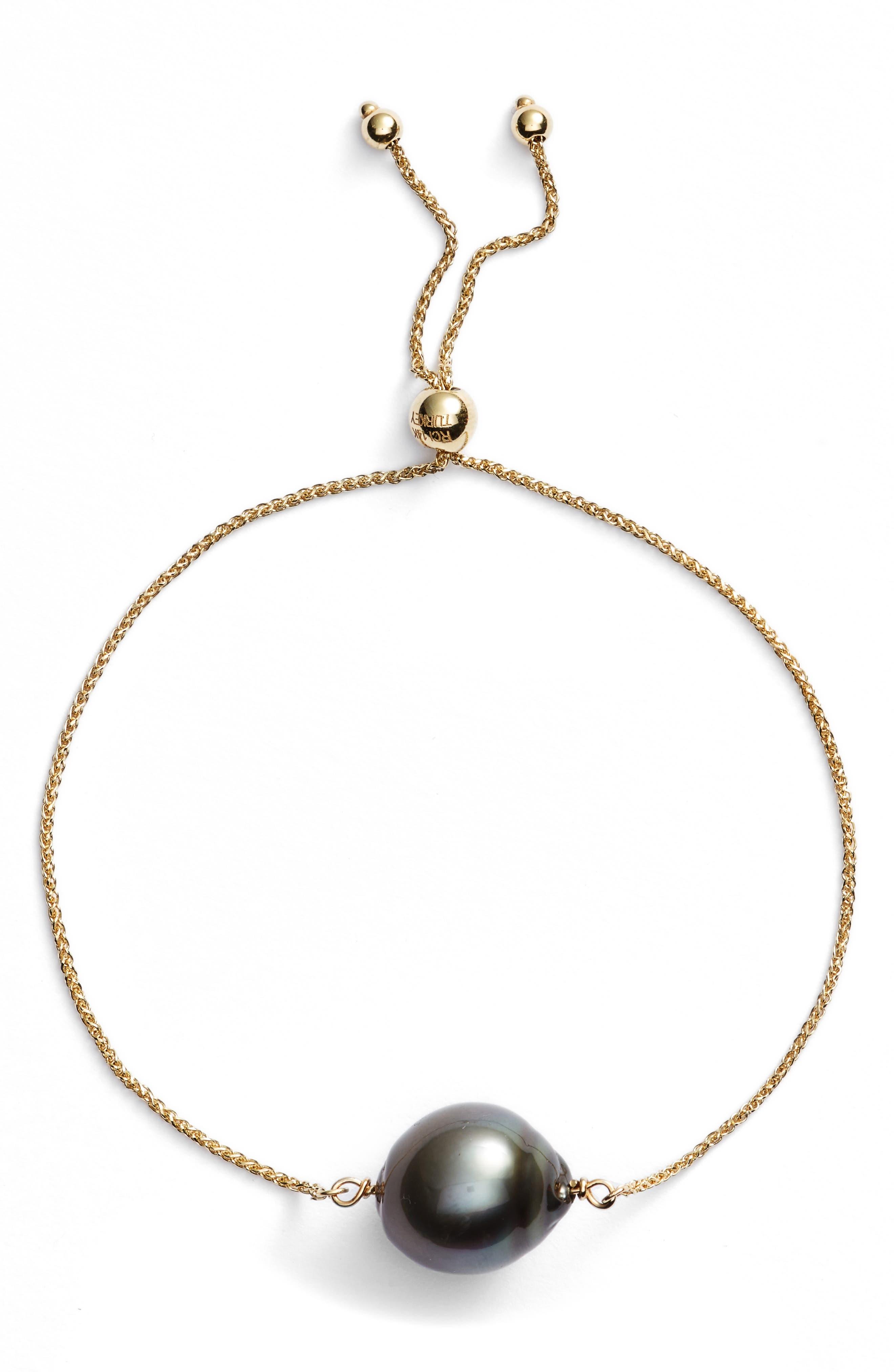 Poppy Finch Baroque Pearl Friendship Bracelet