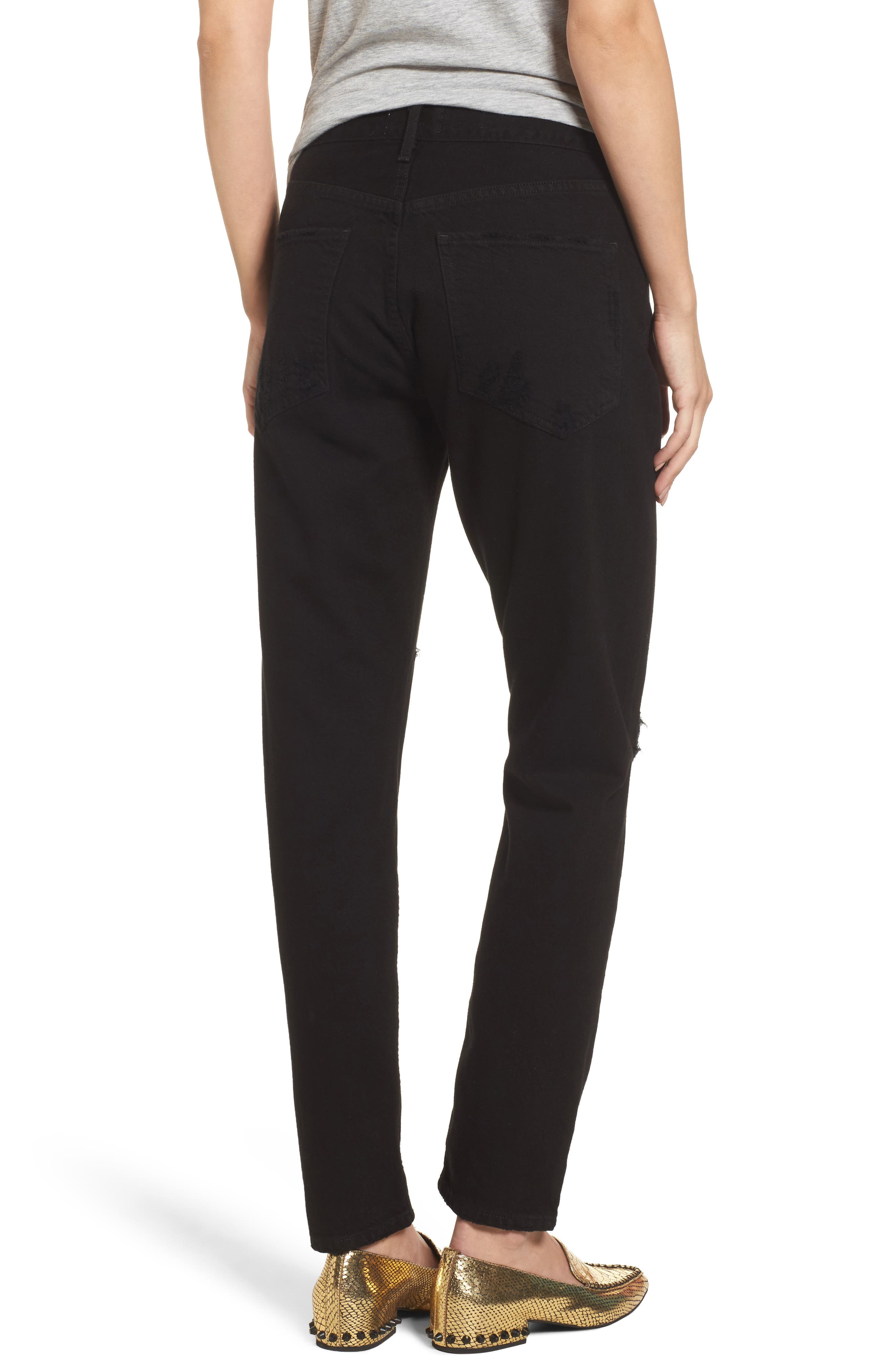 Jamie High Rise Ankle Jeans,                             Alternate thumbnail 2, color,                             Coal