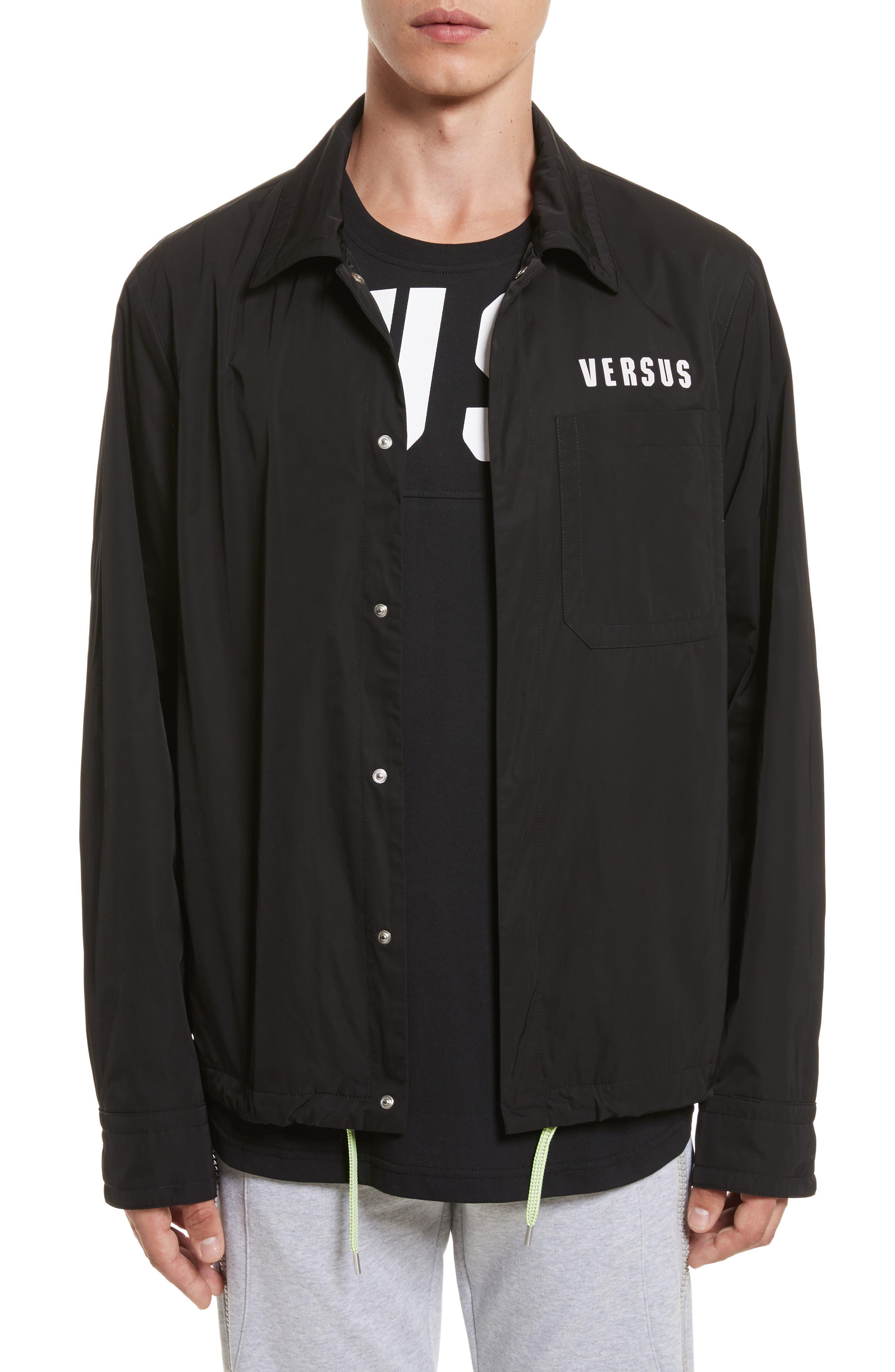 VERSUS by Versace Tech Jacket,                             Main thumbnail 1, color,                             Black