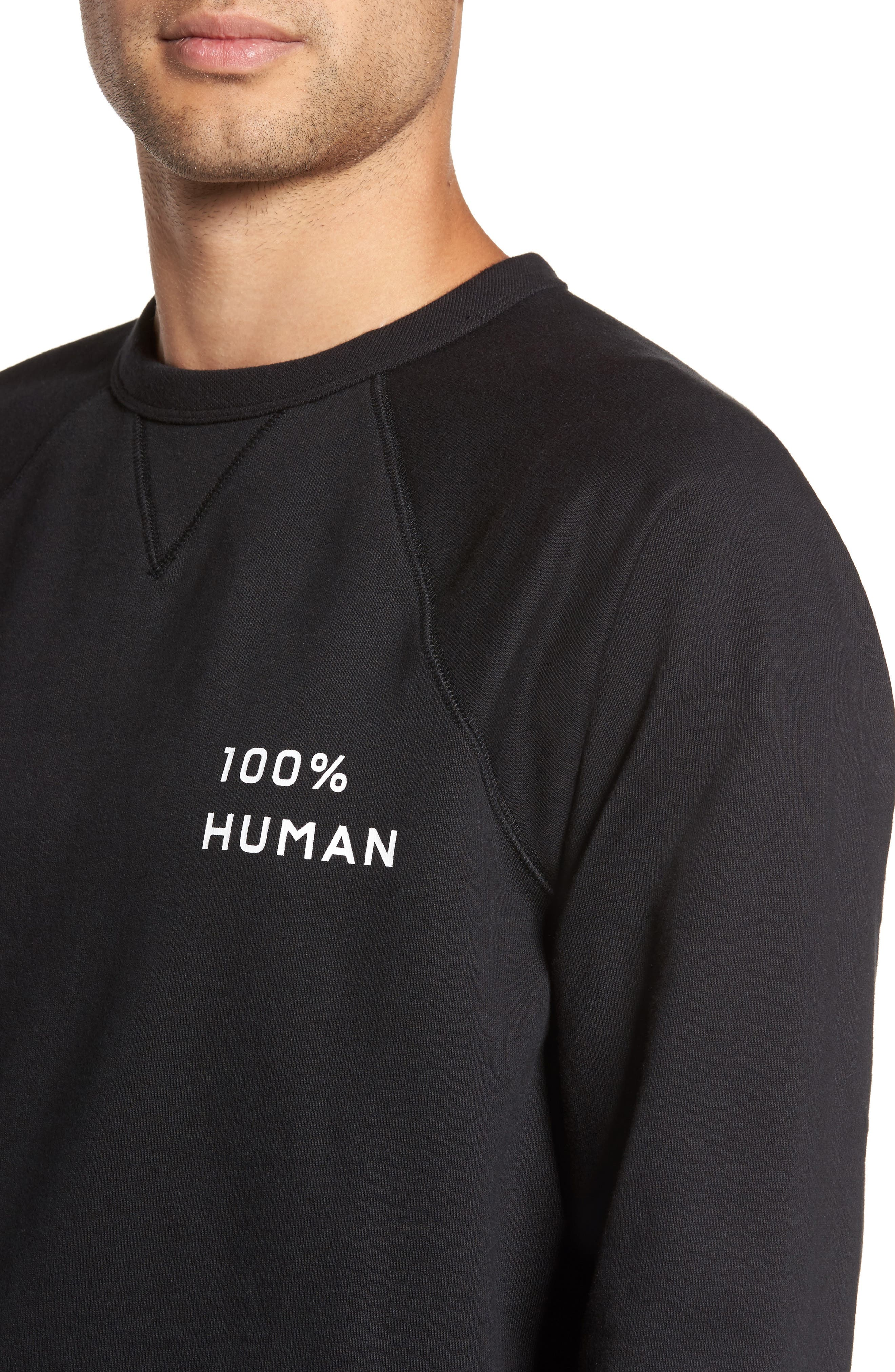 Alternate Image 4  - Everlane The 100% Human Small Print Unisex French Terry Sweatshirt