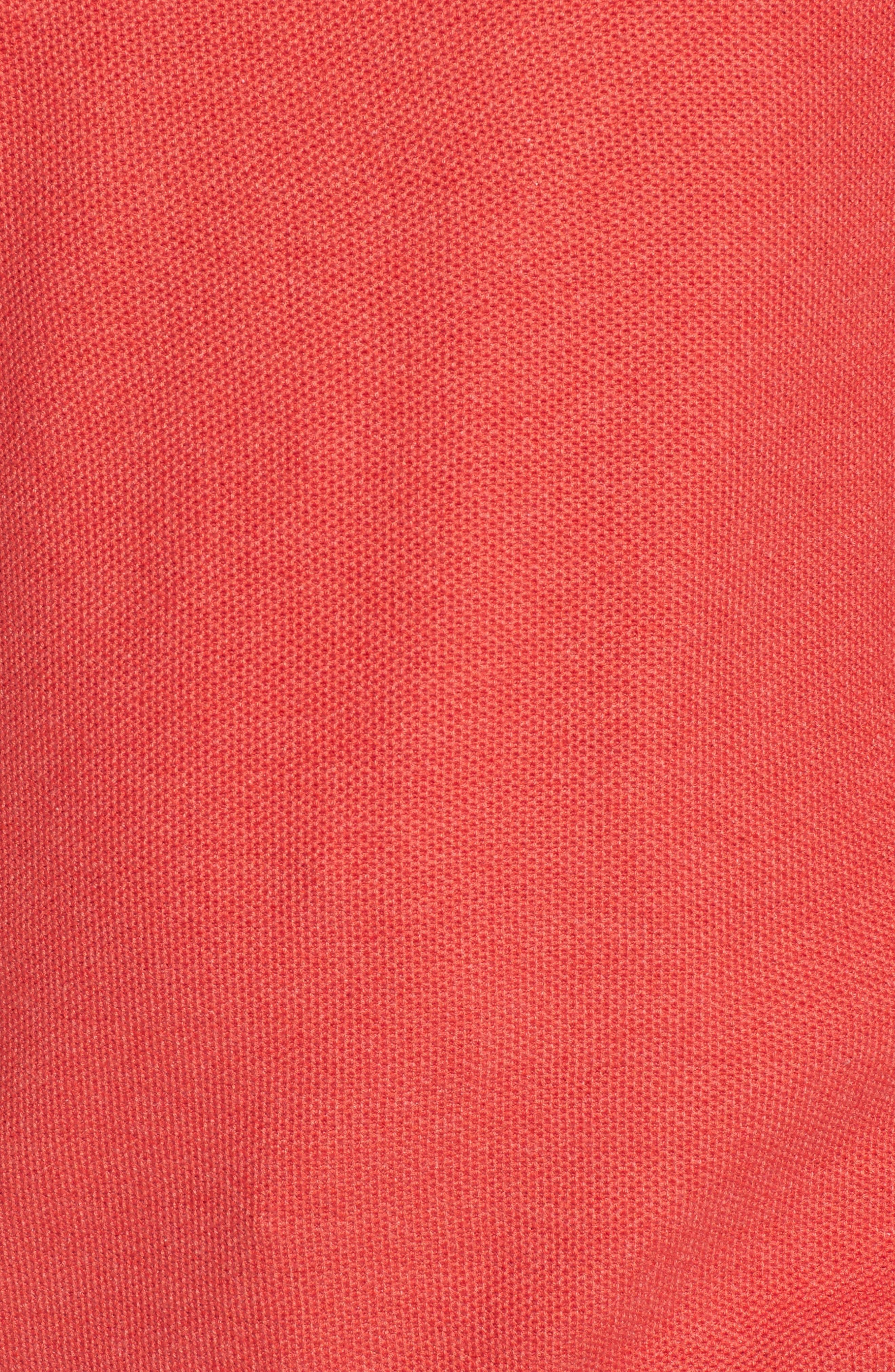 Sorrel Tipped Quarter Zip Sweater,                             Alternate thumbnail 5, color,                             Coral
