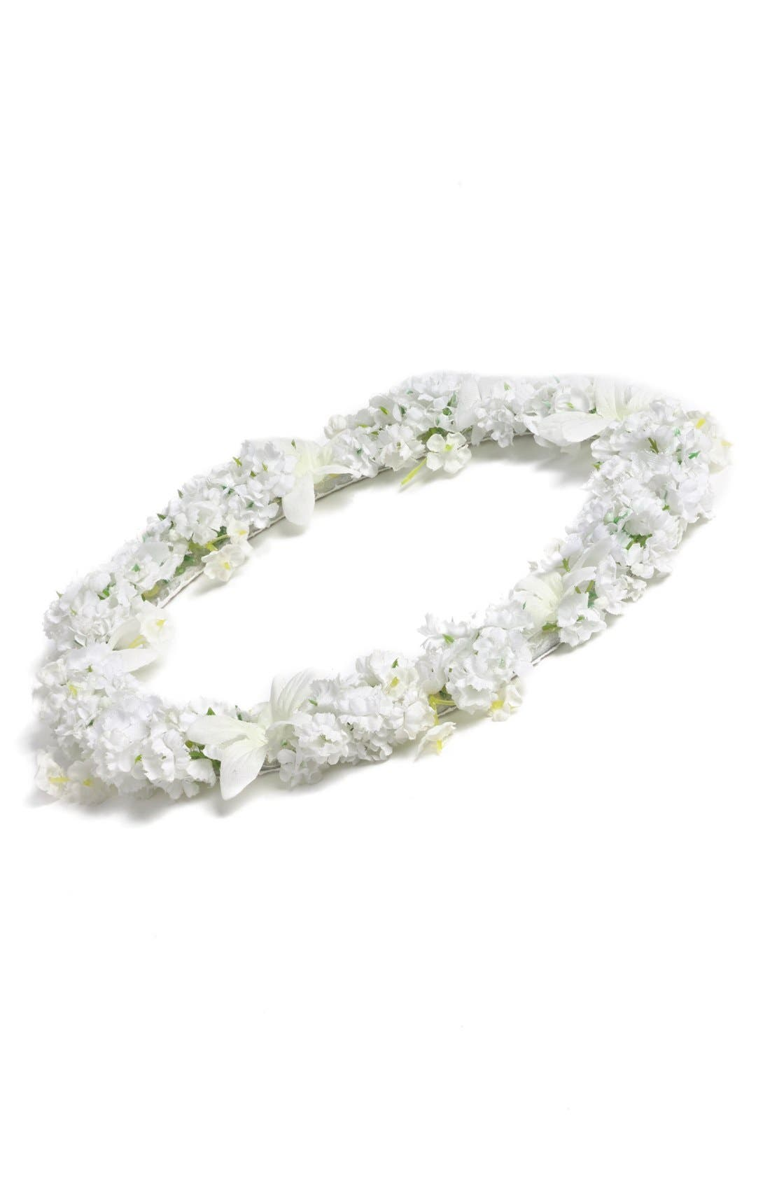 Floral Crown,                             Main thumbnail 1, color,                             White