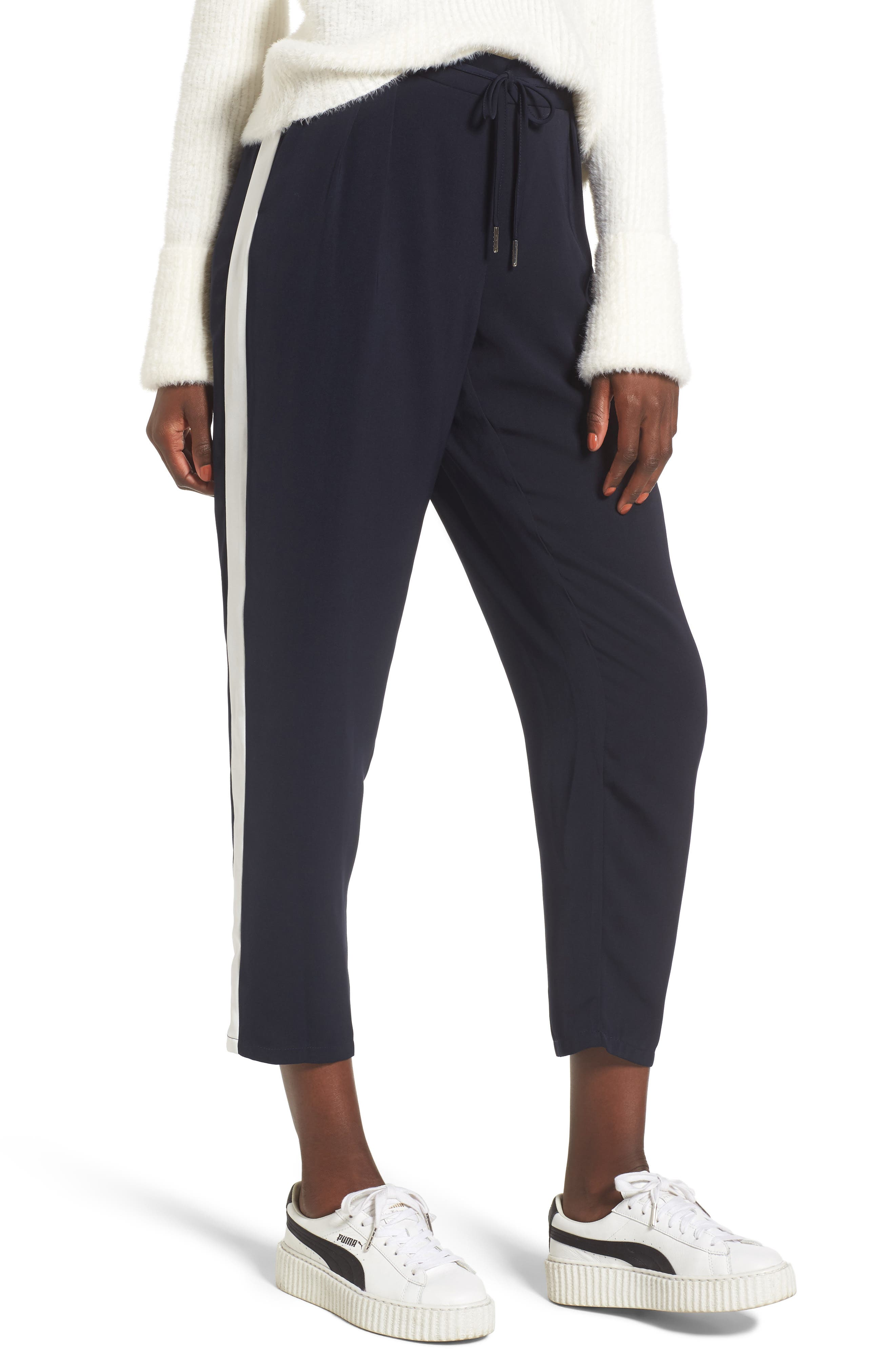 Side Stripe Track Pants,                             Main thumbnail 1, color,                             Navy