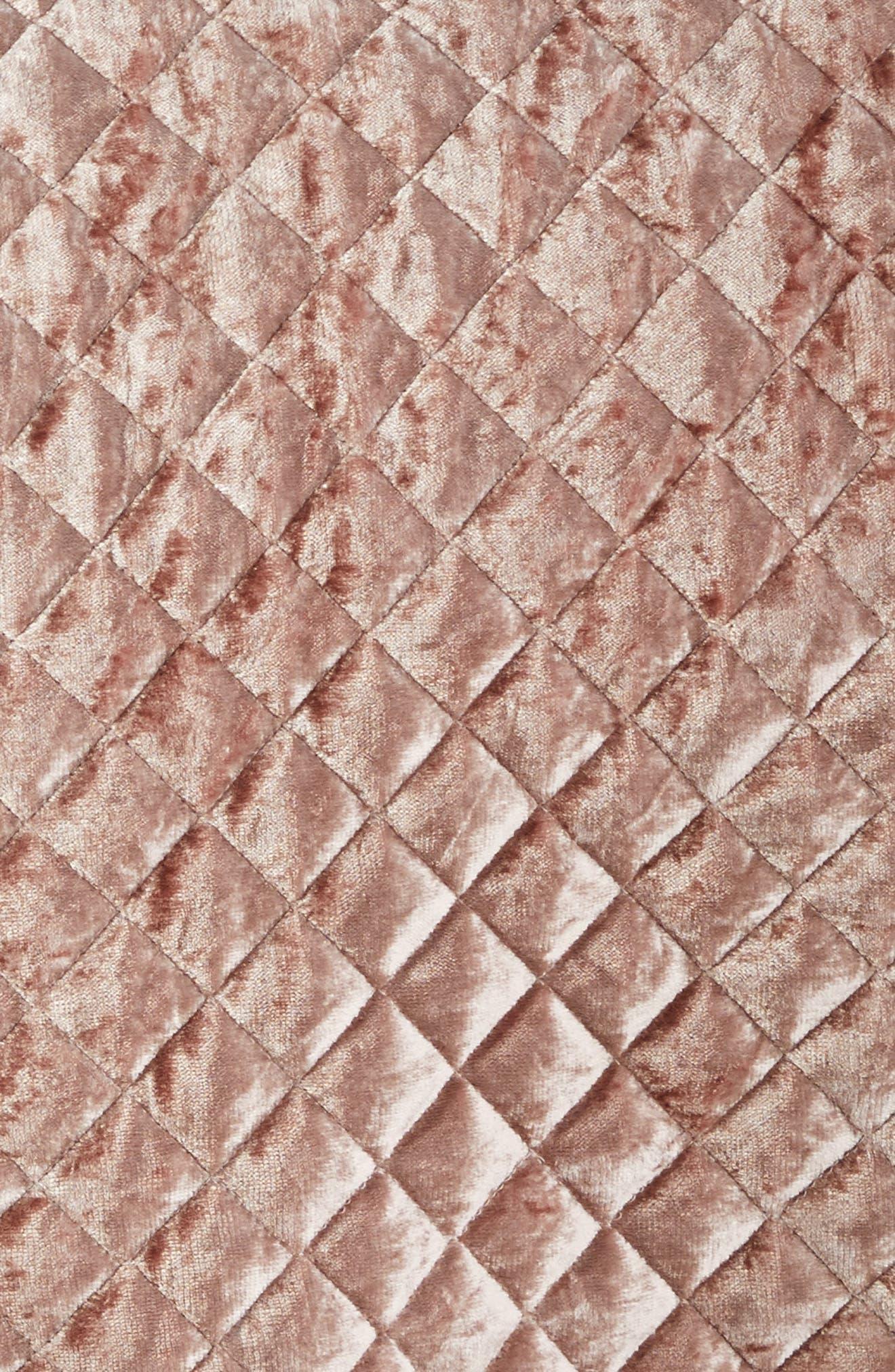 Crushed Velvet Quilt,                             Alternate thumbnail 3, color,                             Blush